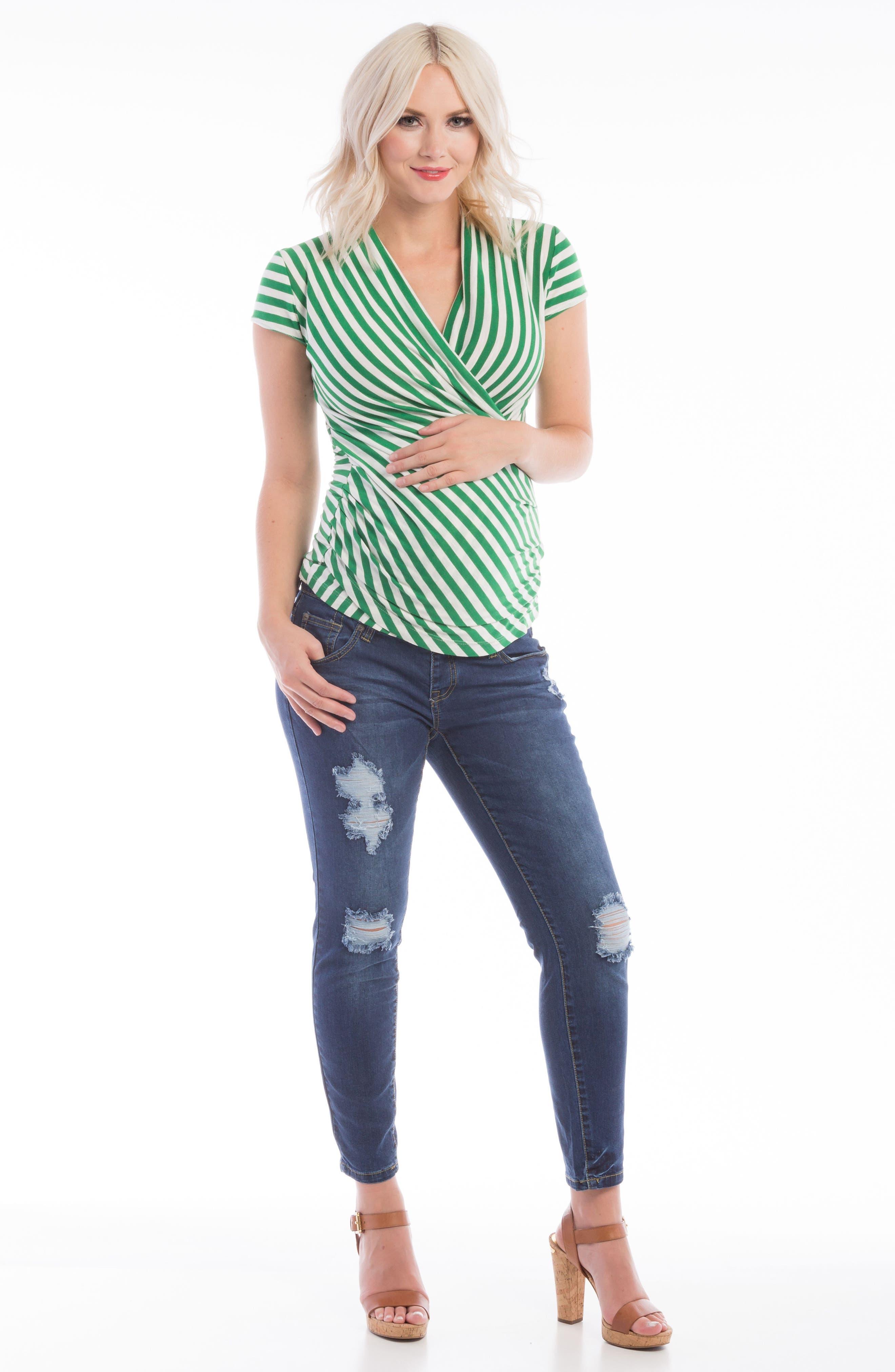 Alternate Image 2  - Lilac Clothing Karen Maternity/Nursing Top