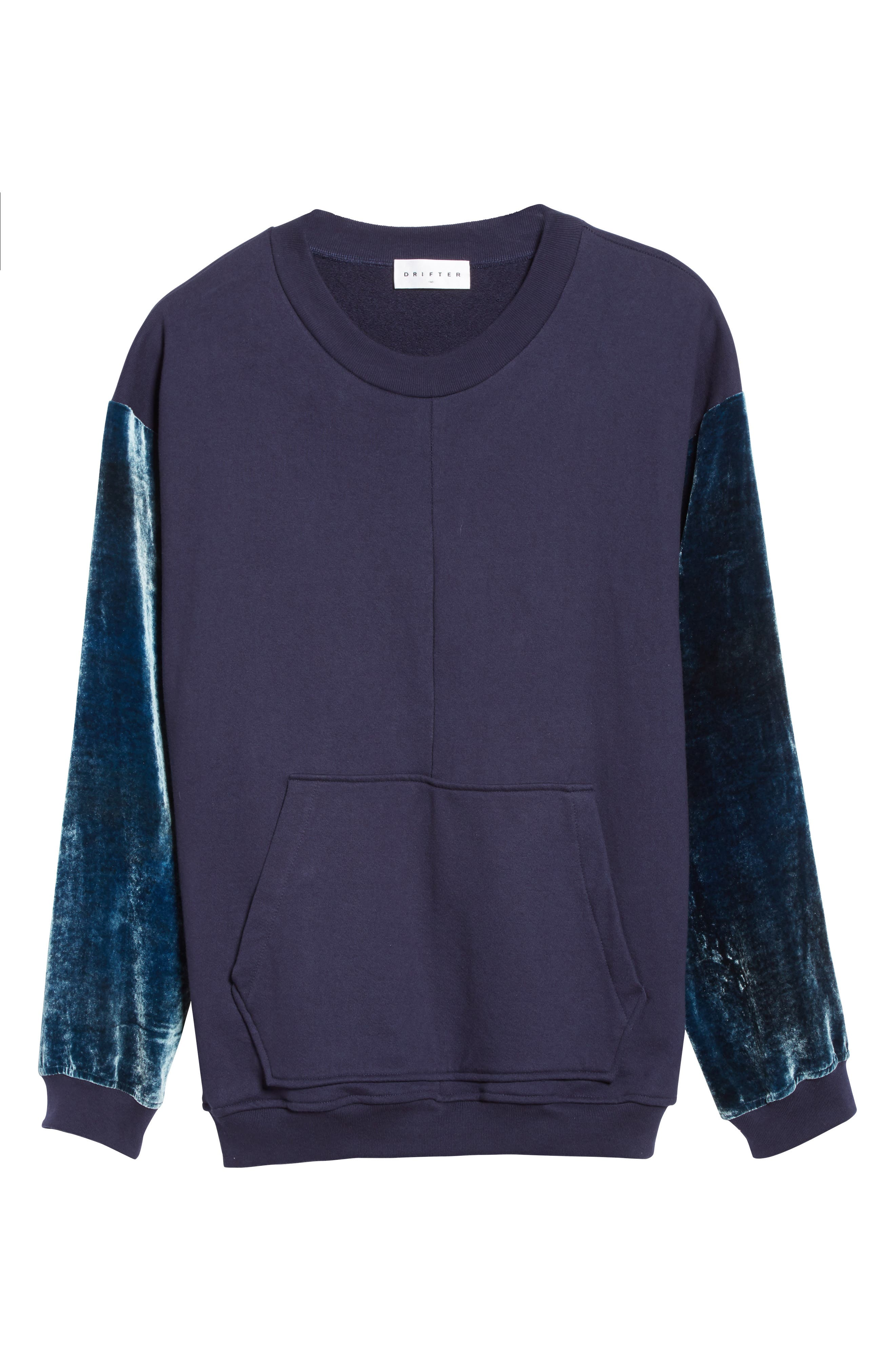 Alternate Image 6  - Drifter Galeras Velvet Sleeve Sweatshirt