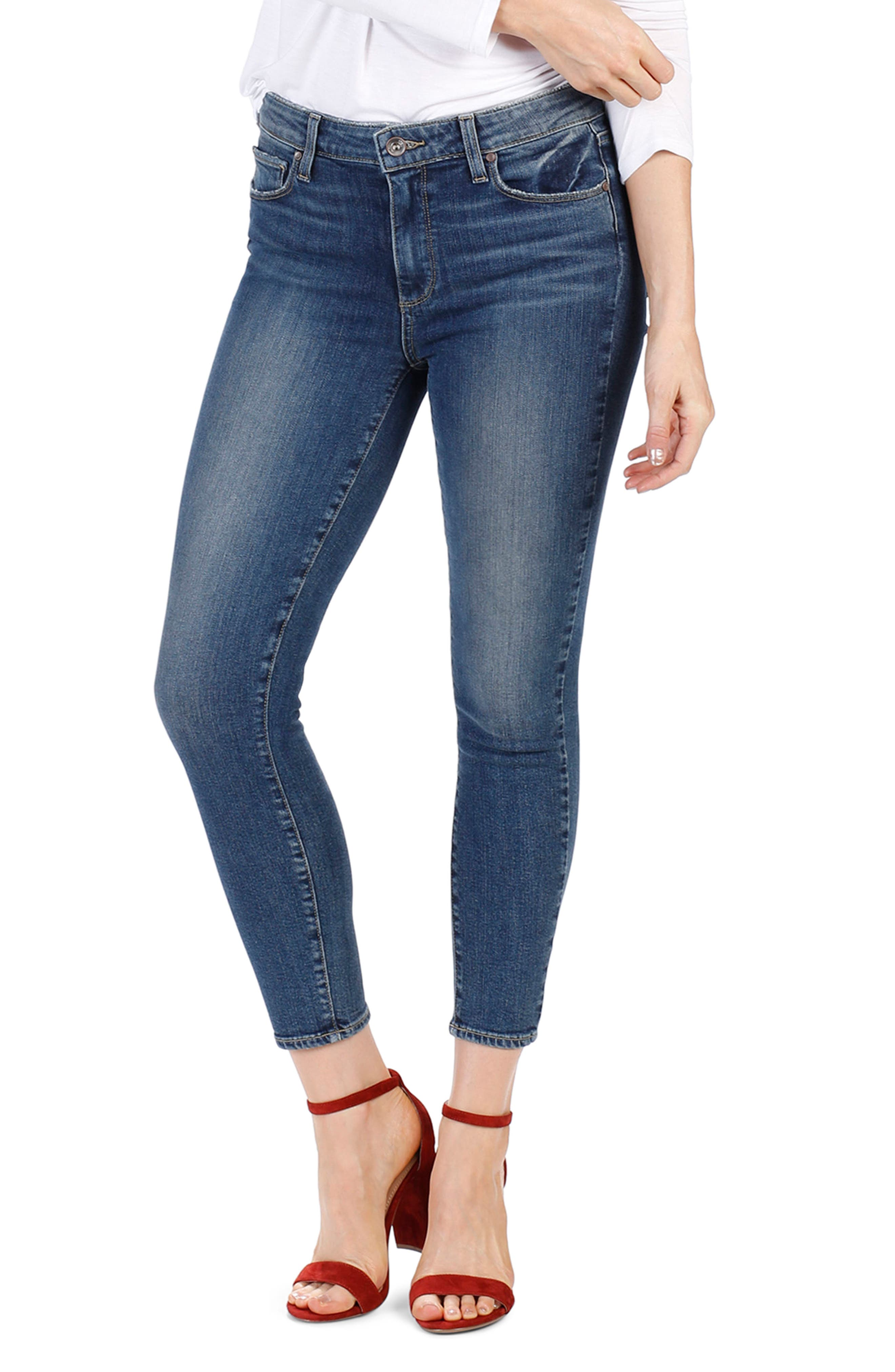 Hoxton High Waist Crop Skinny Jeans,                             Alternate thumbnail 3, color,                             Luca