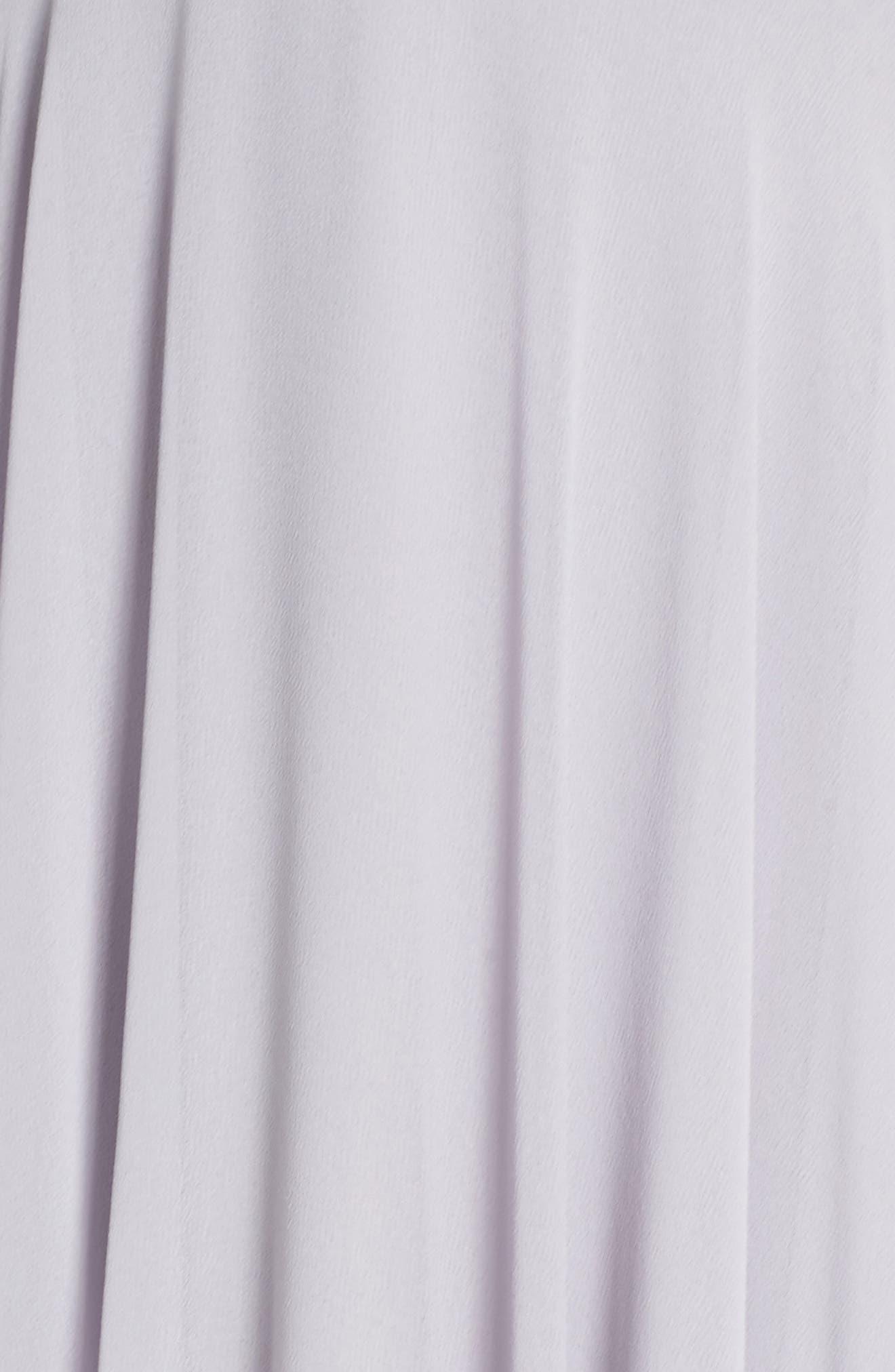 Alternate Image 5  - Lulus Celebrate the Moment Lace Trim Chiffon Maxi Dress