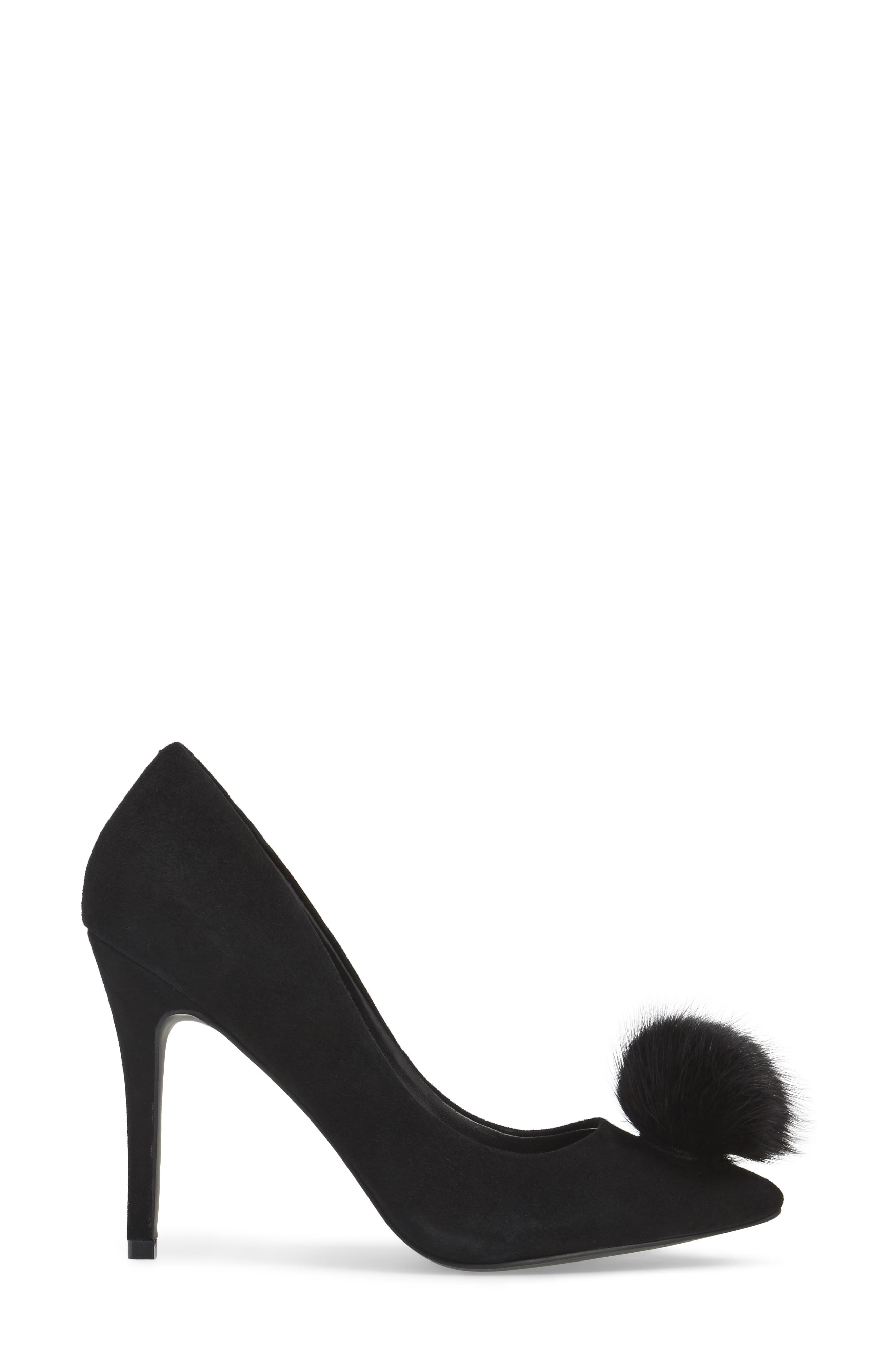 Alternate Image 3  - Charles by Charles David Pixie Pump with Genuine Fox Fur Pom