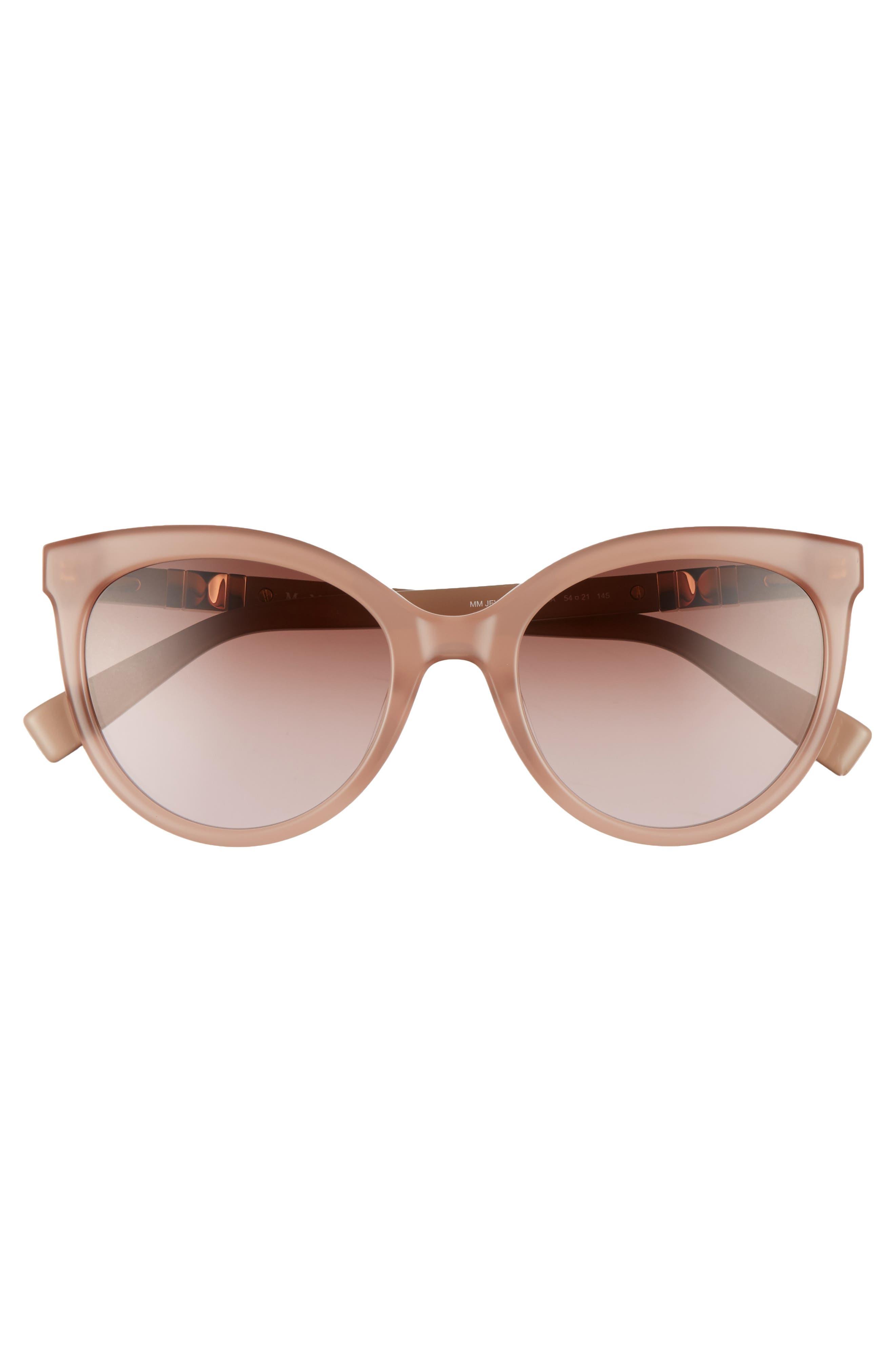 Jeweliis 54mm Gradient Cat Eye Sunglasses,                             Alternate thumbnail 3, color,                             Nude