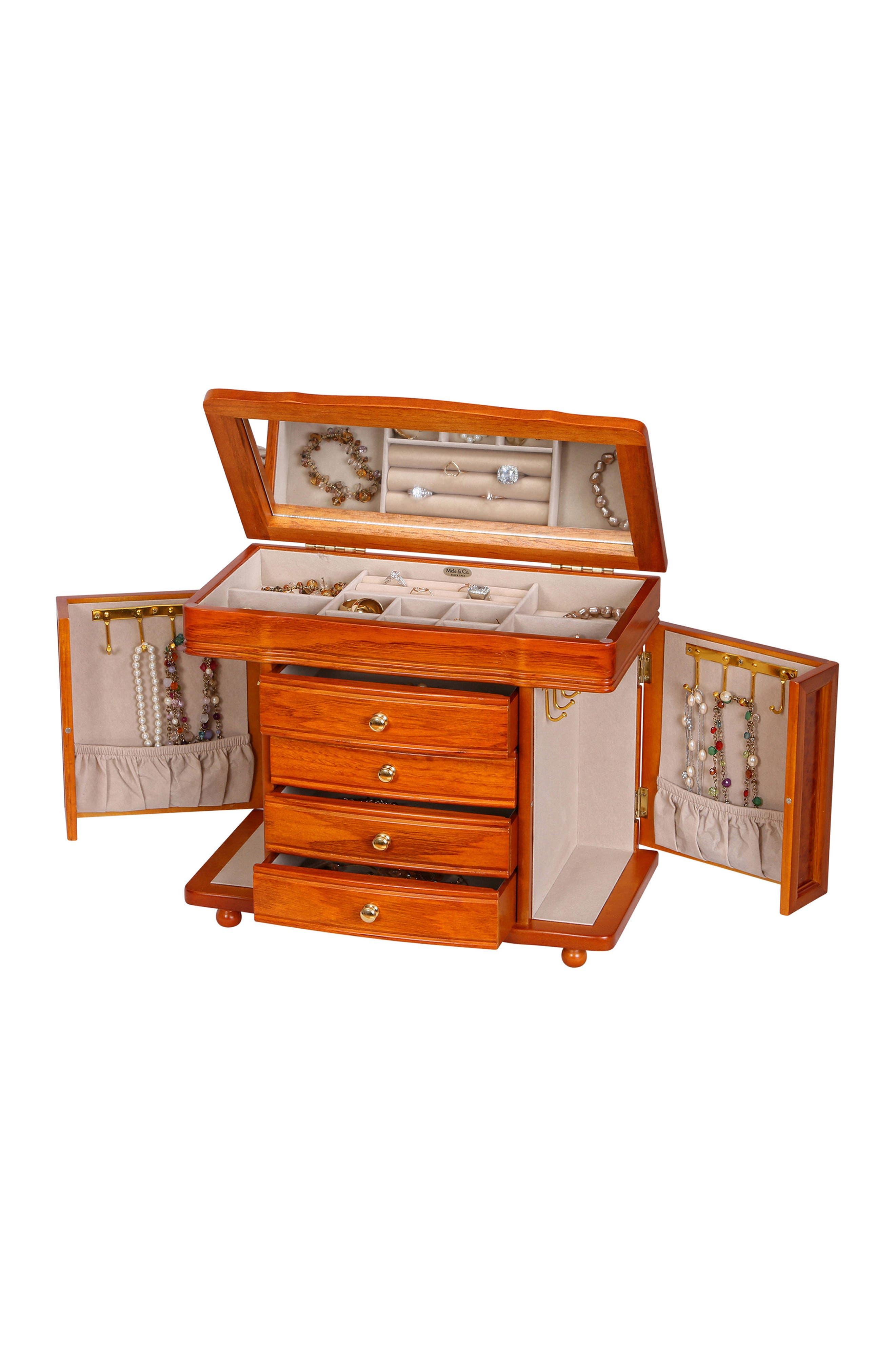 Josephine Jewelry Box,                             Alternate thumbnail 4, color,                             Brown