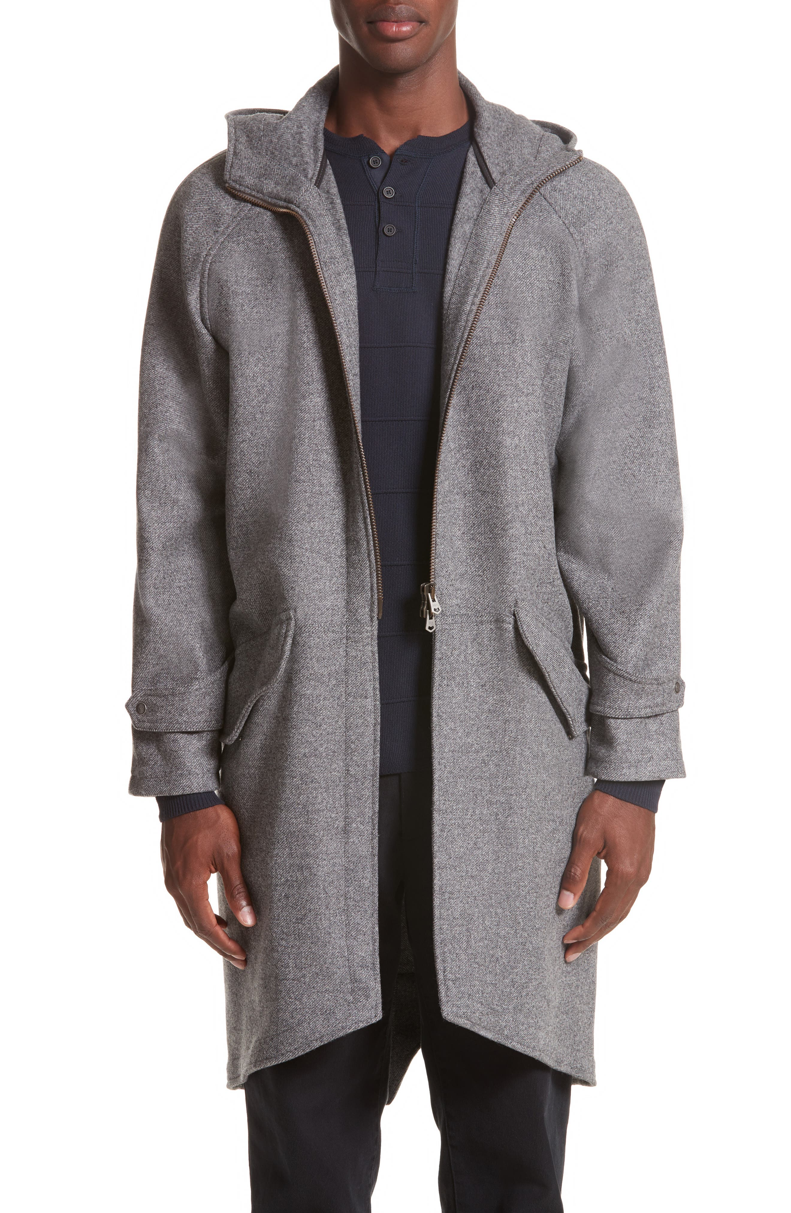 Wool & Cashmere Flannel Anorak,                         Main,                         color, Flannel