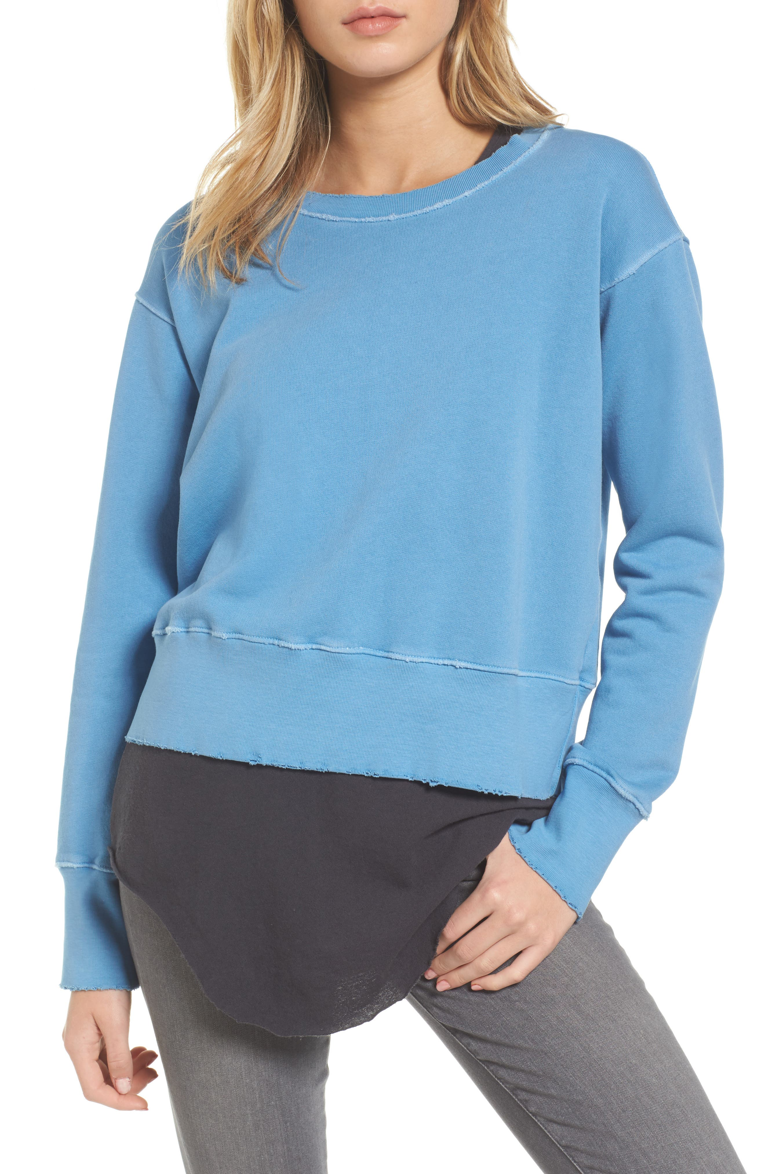 Sweatshirt,                             Main thumbnail 1, color,                             Deep End