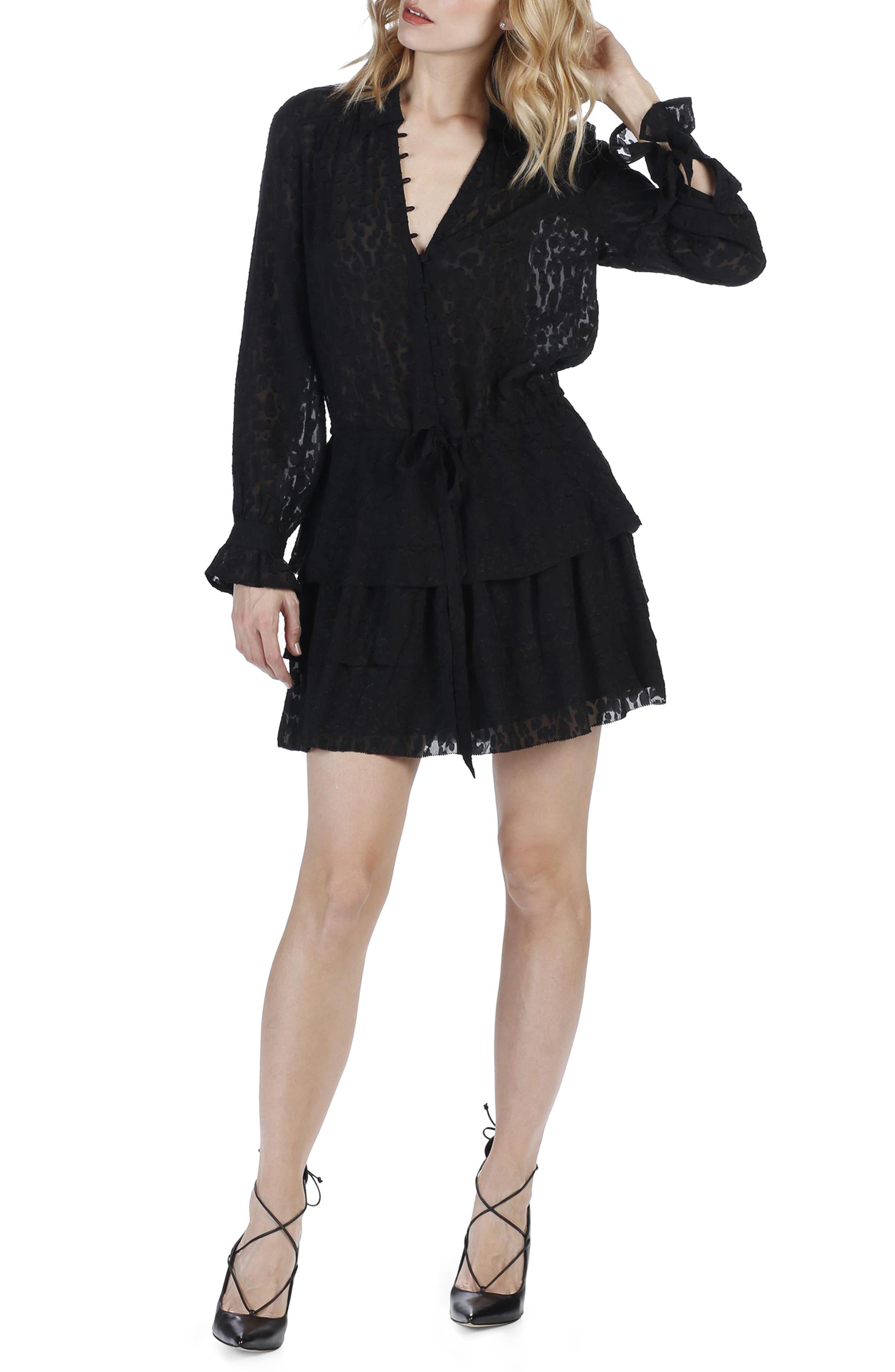 Capricia Silk Dress,                         Main,                         color, Black