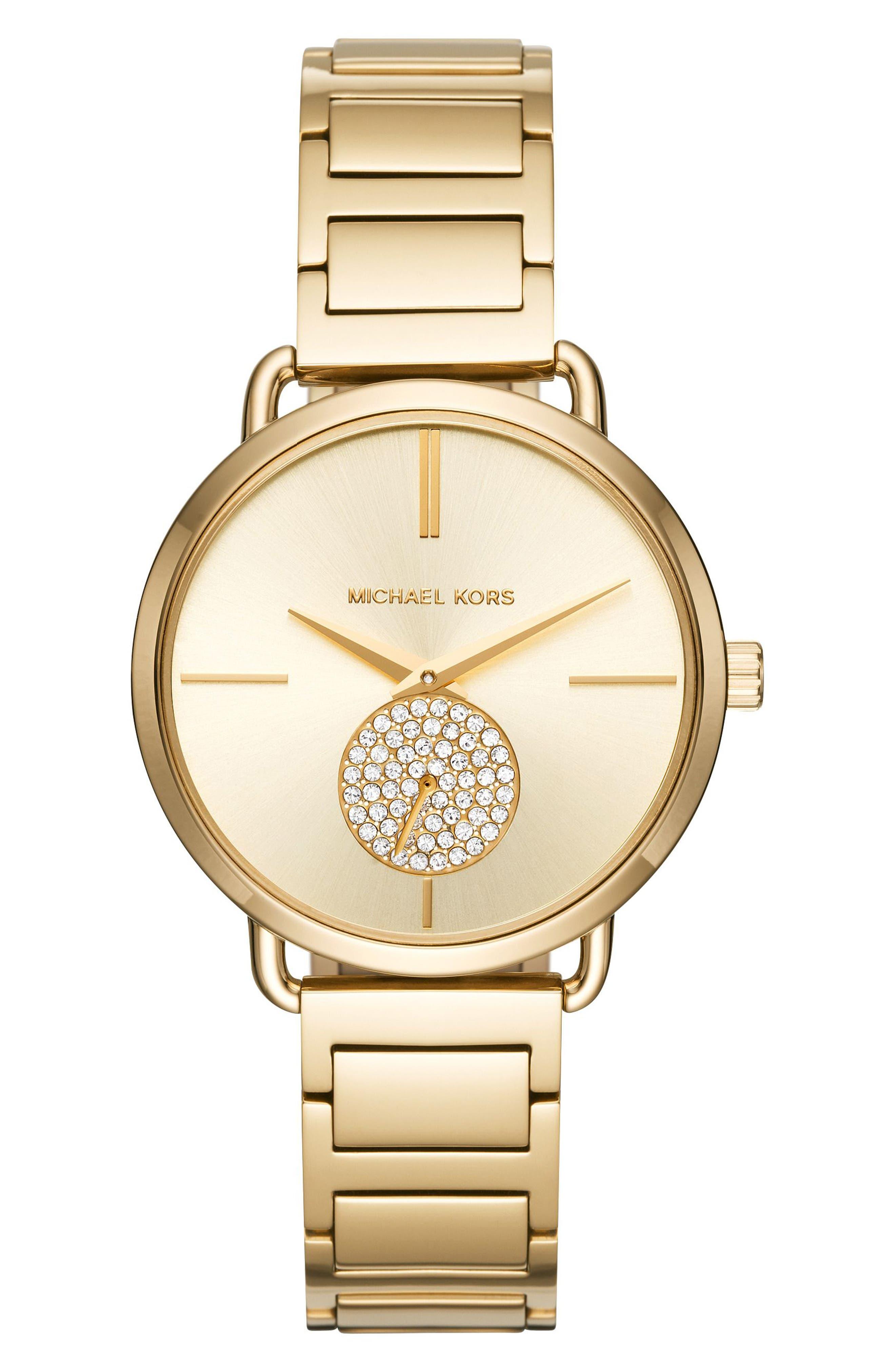 MICHAEL KORS MICHAEL Michael Kors Portia Round Bracelet Watch, 36.5mm