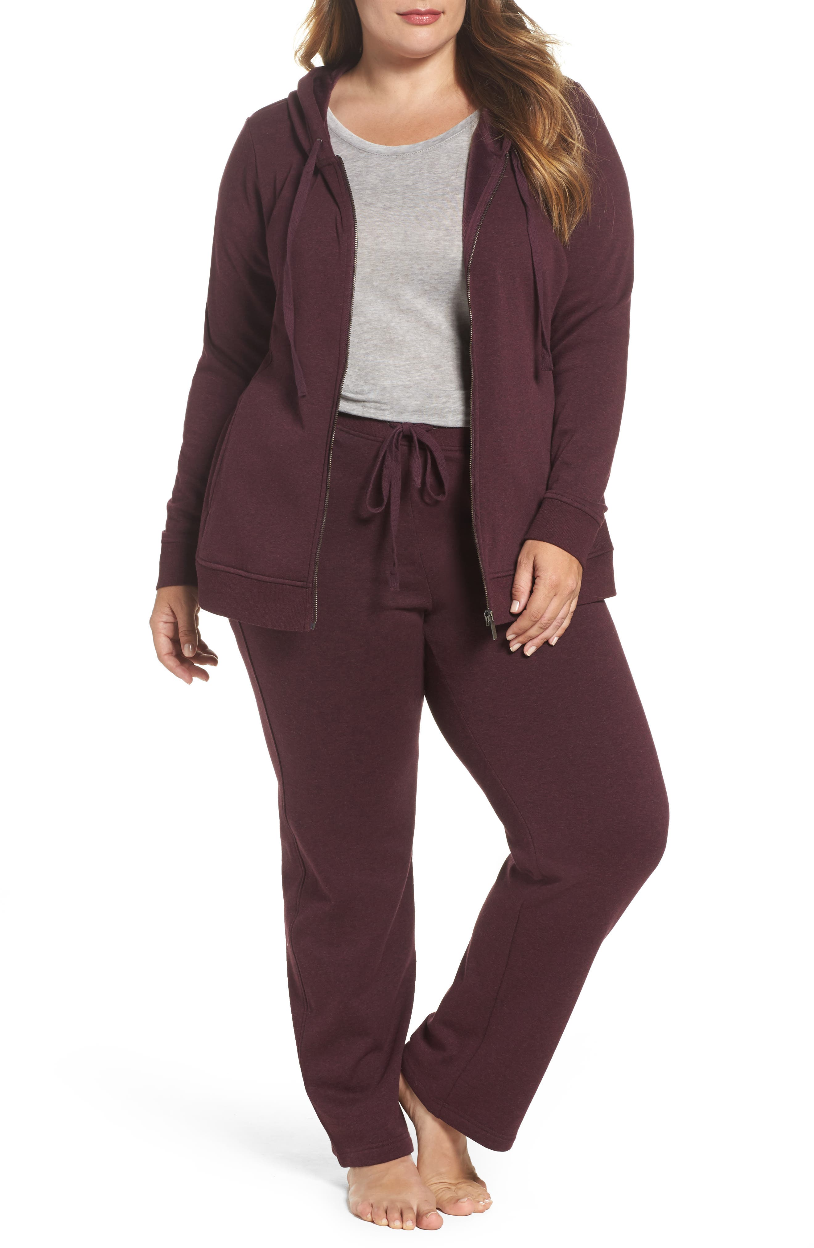 Alternate Image 5  - UGG® Penny Fleece Sweatpants (Plus Size)