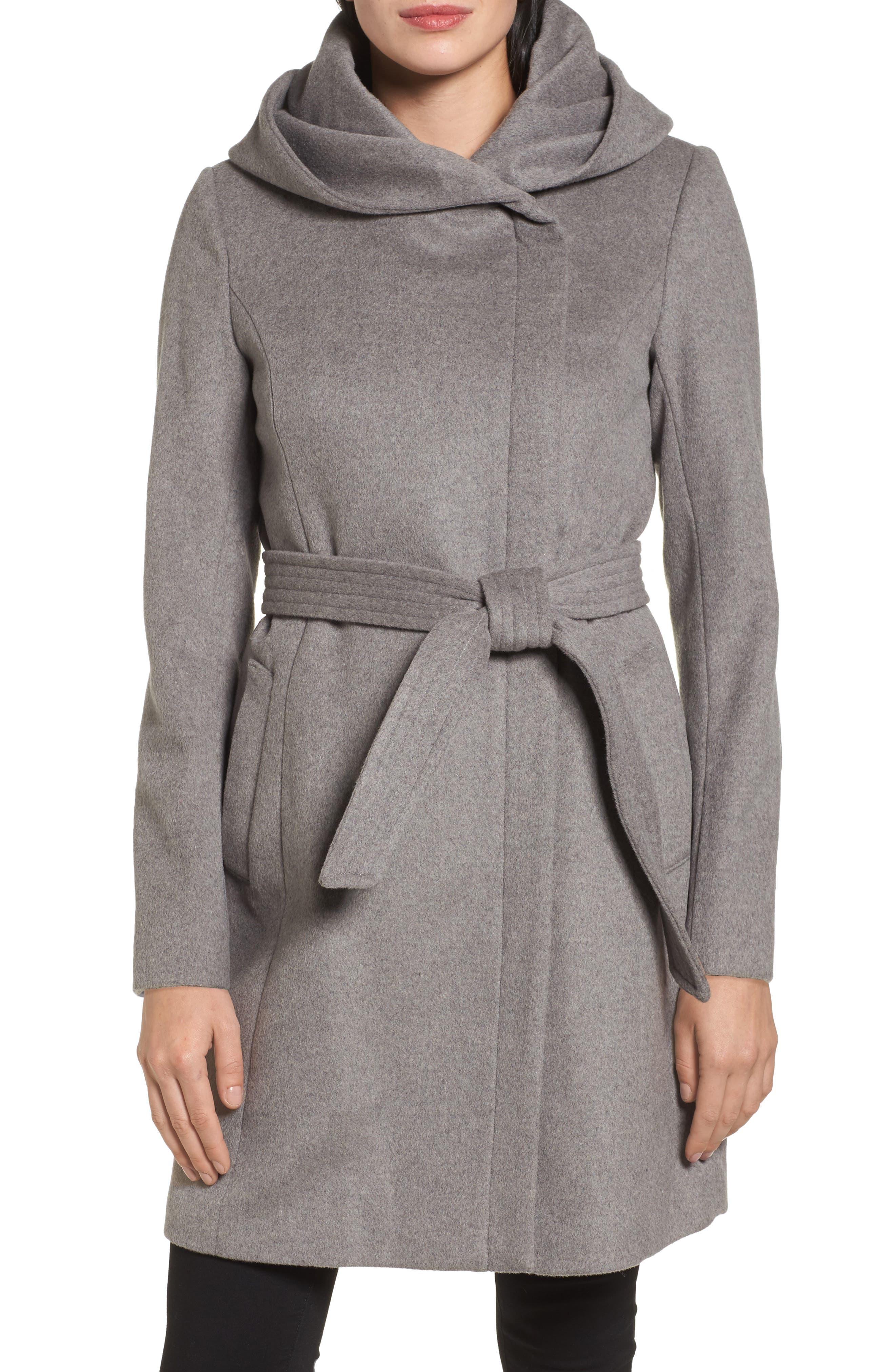 Alternate Image 1 Selected - Cole Haan Belted Asymmetrical Wool Coat
