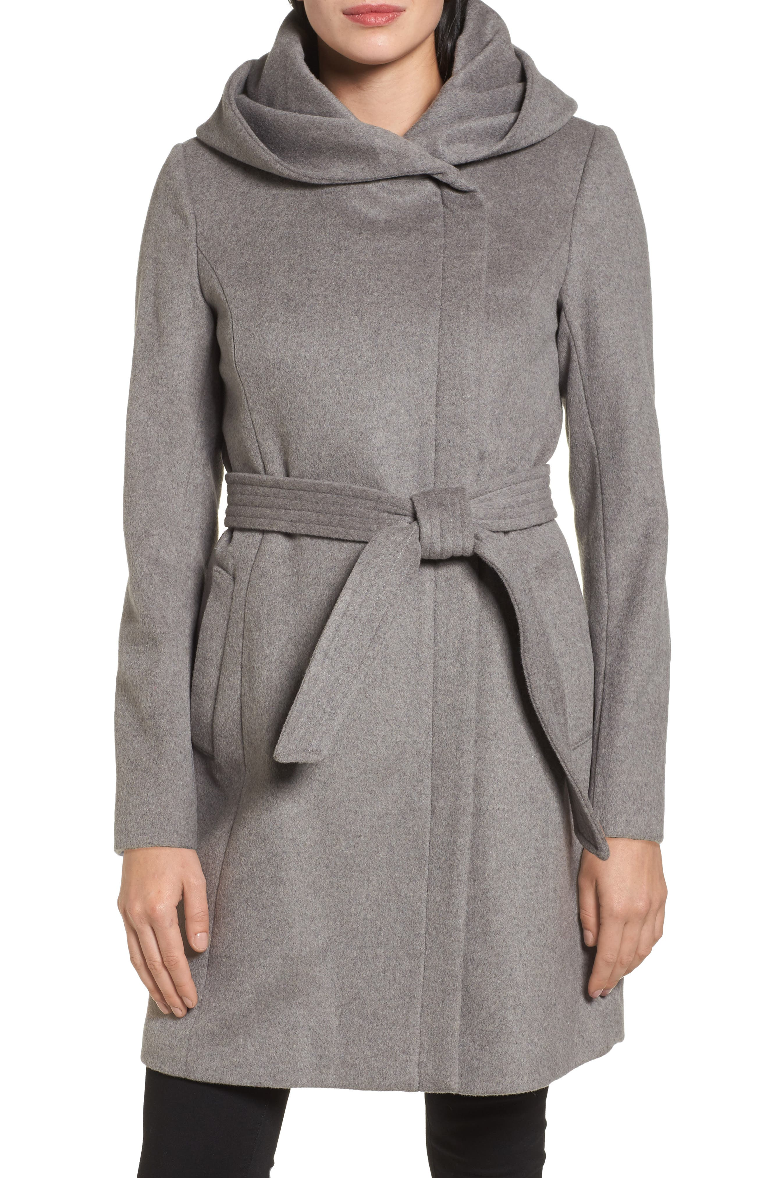 Main Image - Cole Haan Belted Asymmetrical Wool Coat