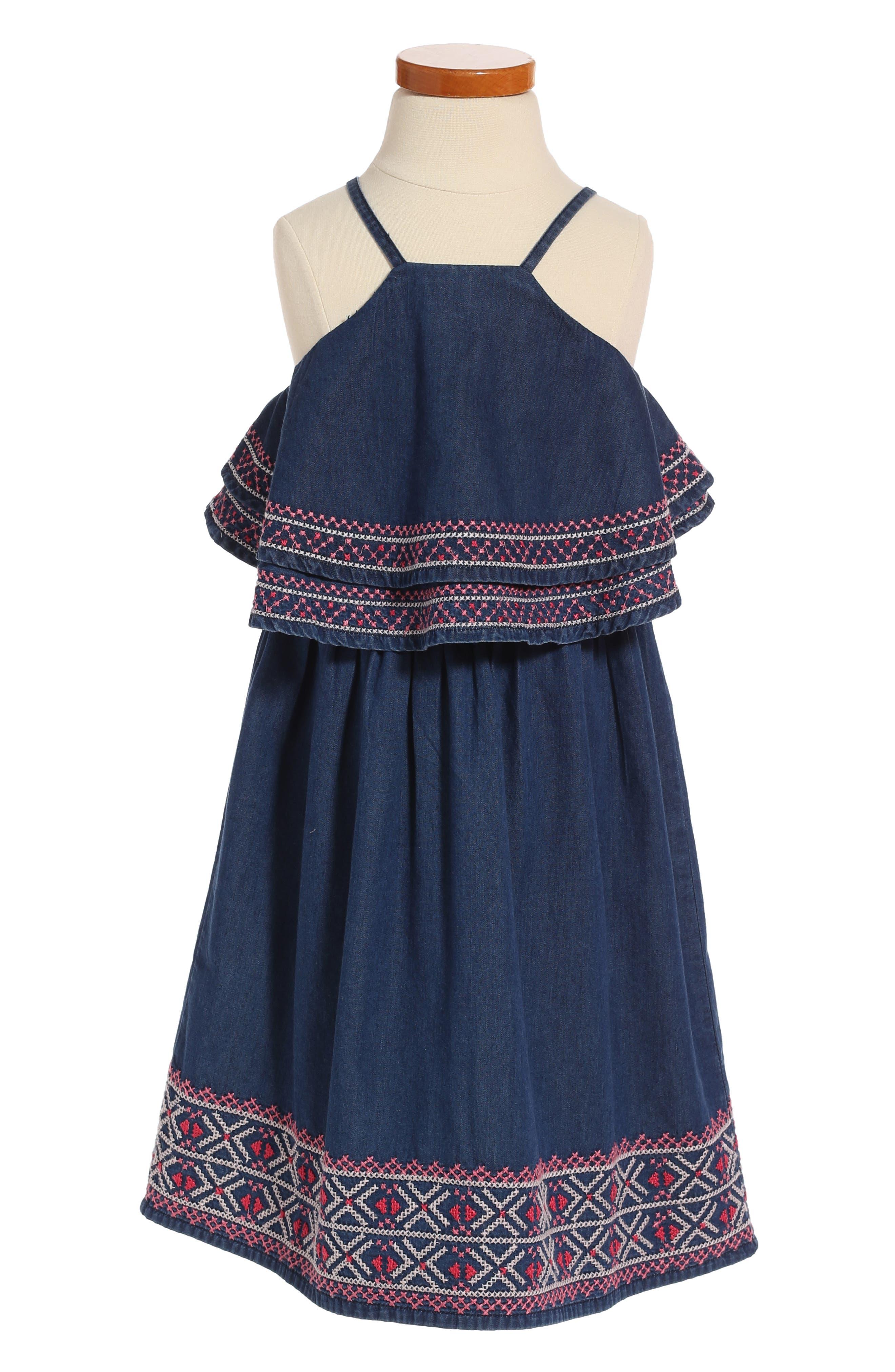 Peek Julia Embroidered Dress (Toddler Girls, Little Girls & Big Girls)