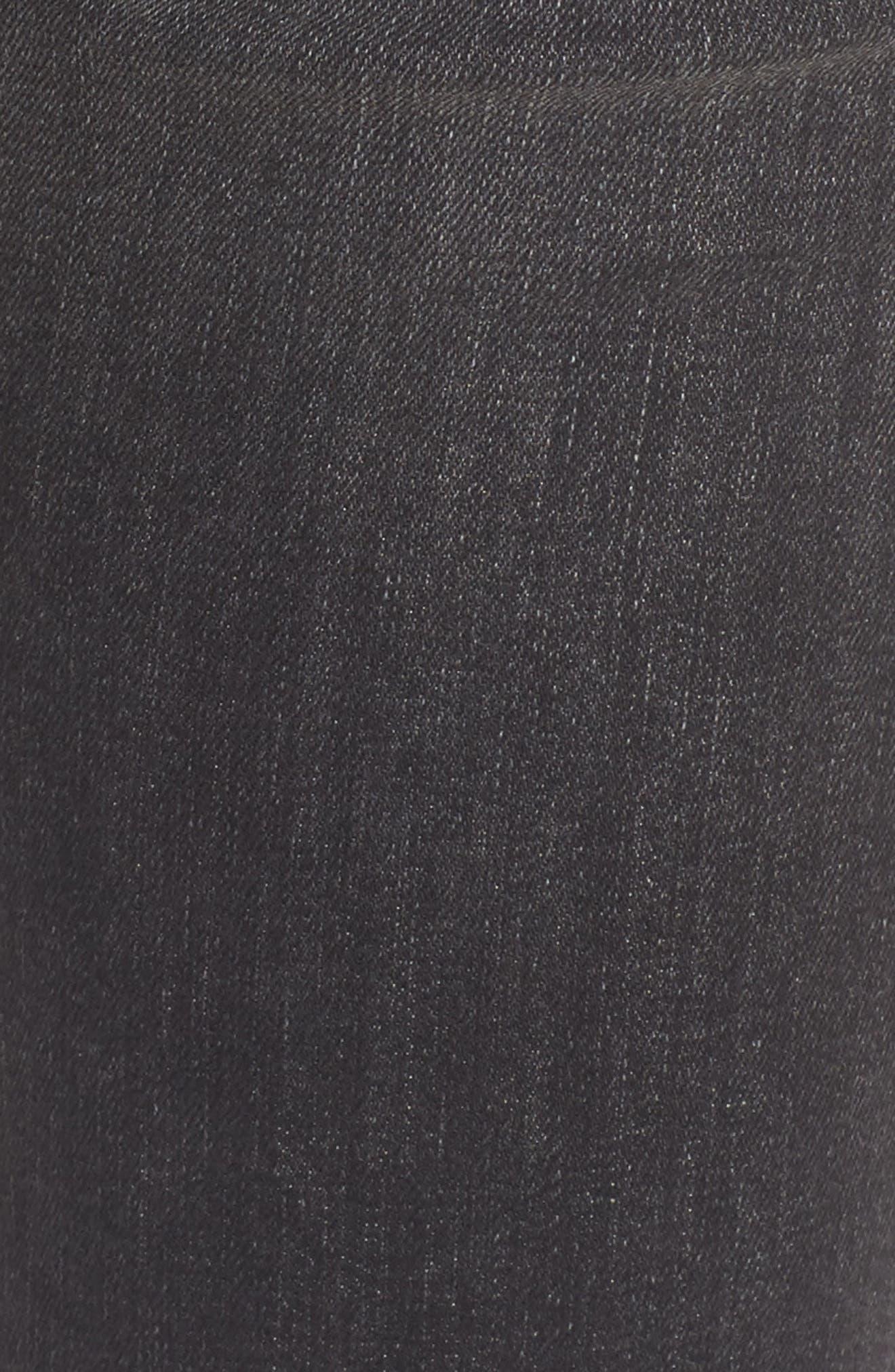 Barbara High Waist Super Skinny Jeans,                             Alternate thumbnail 5, color,                             Onix