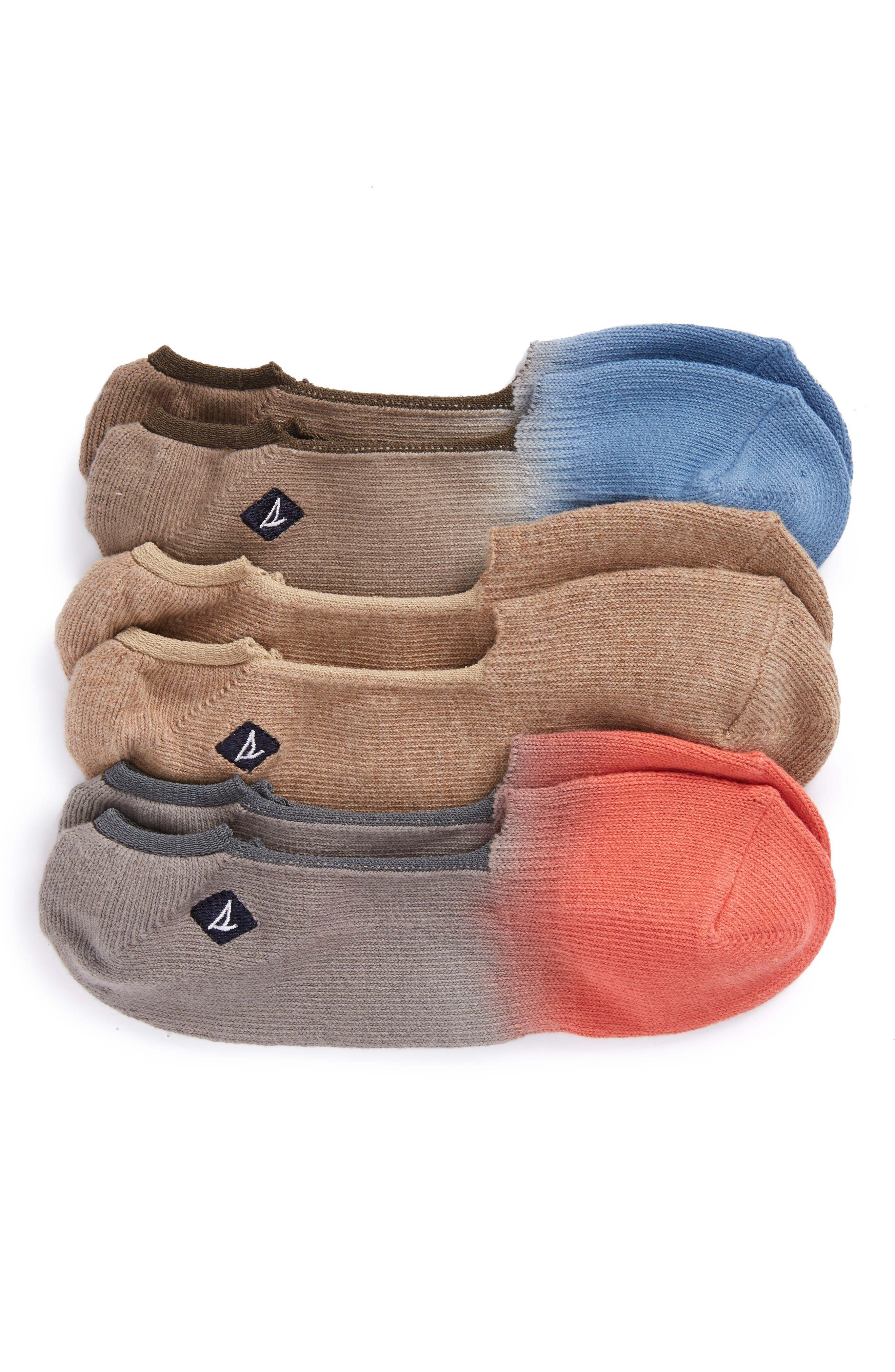 Alternate Image 1 Selected - Sperry 3-Pack Liner Socks