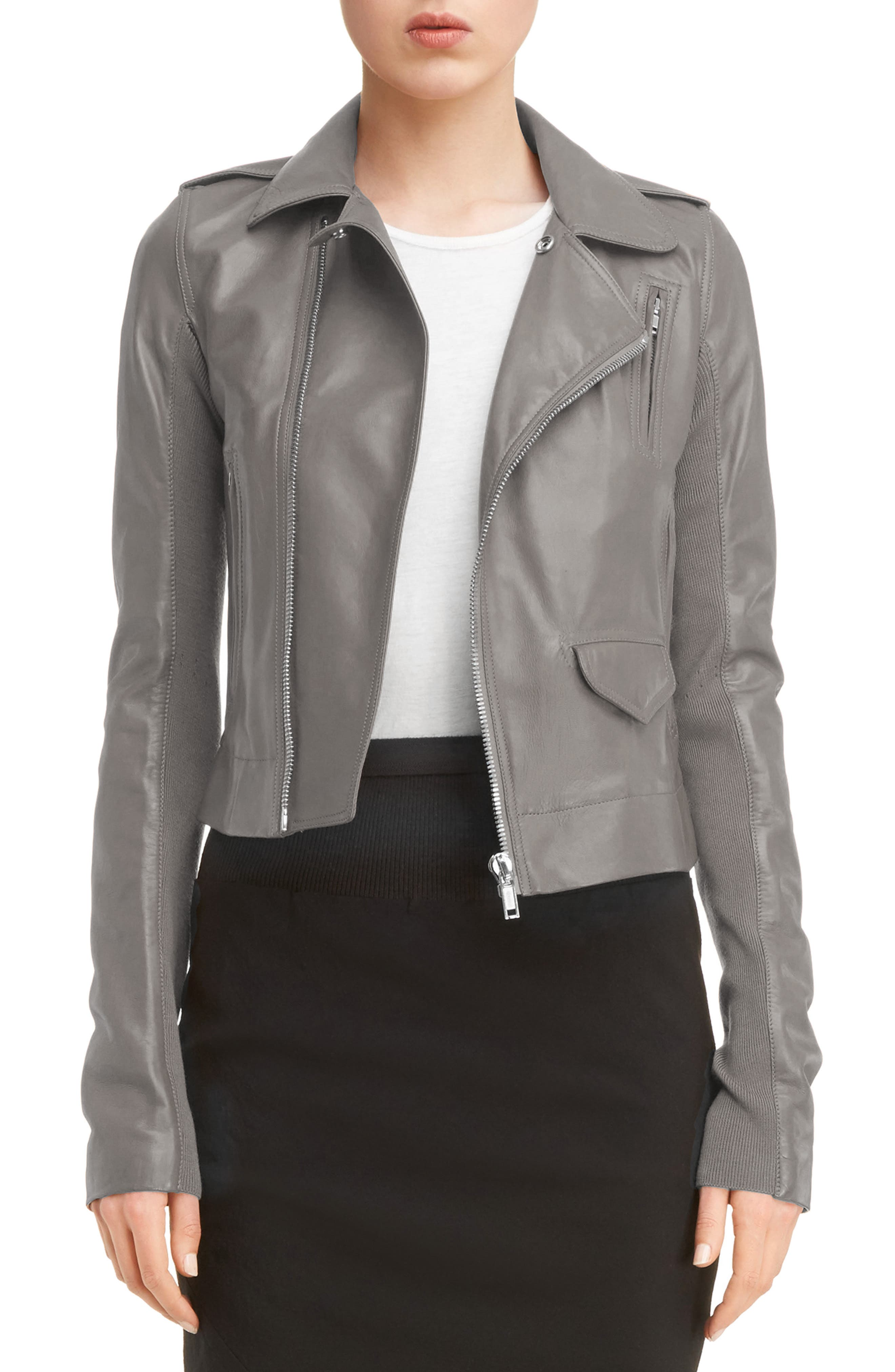 Classic Stooges Leather Jacket,                         Main,                         color, Dark Dust
