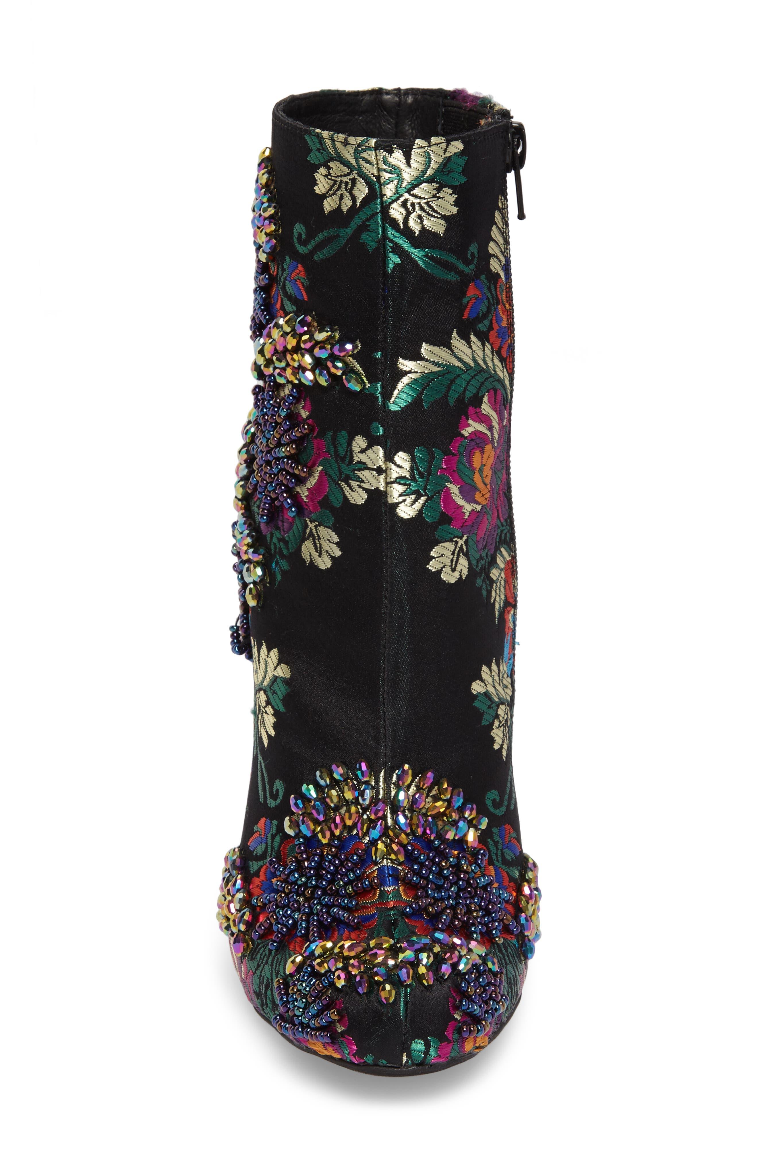 Alternate Image 4  - Jeffrey Campbell Stratford Embellished Brocade Bootie (Women)