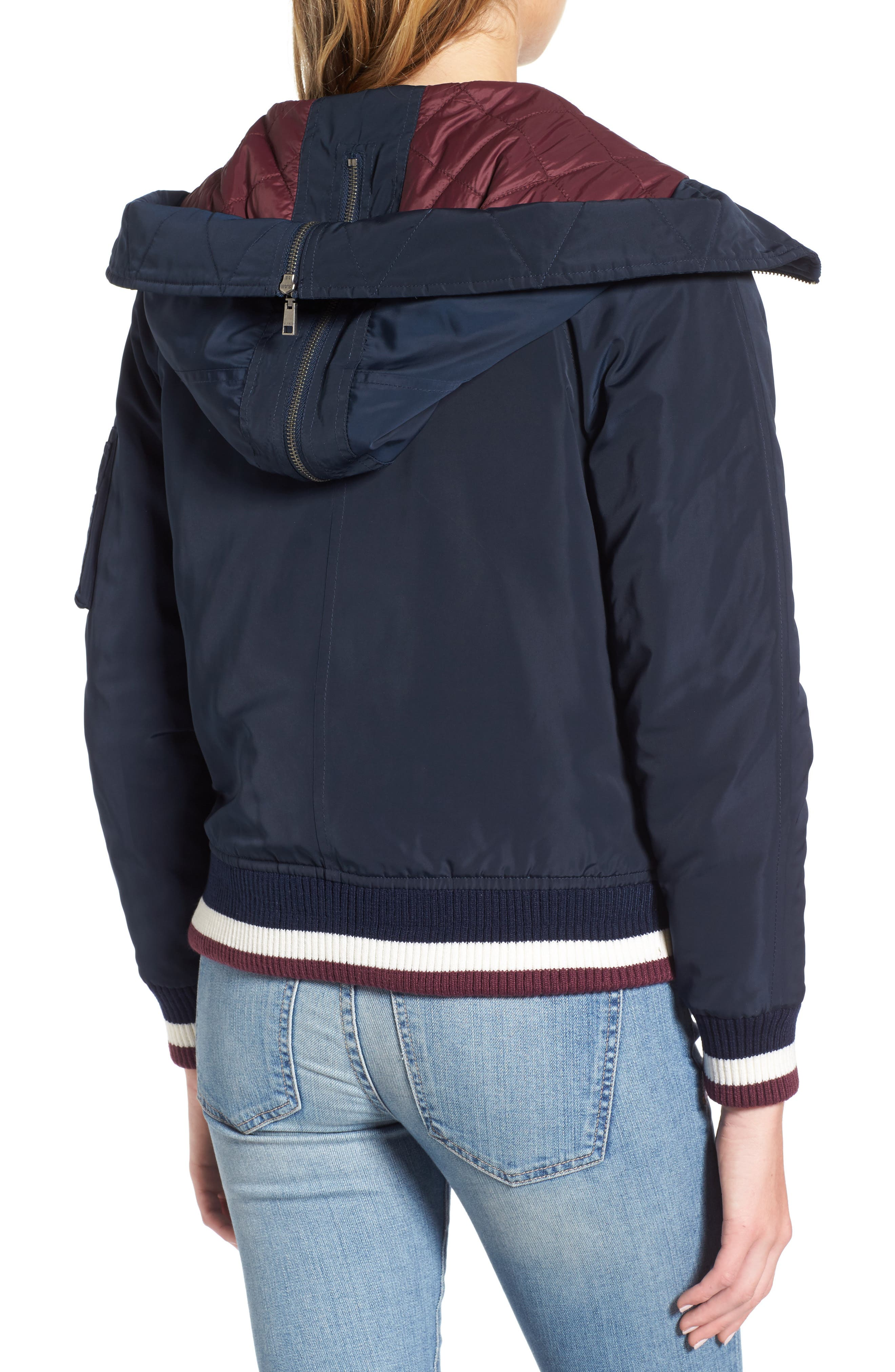 Hooded Windbreaker Jacket,                             Alternate thumbnail 2, color,                             Navy