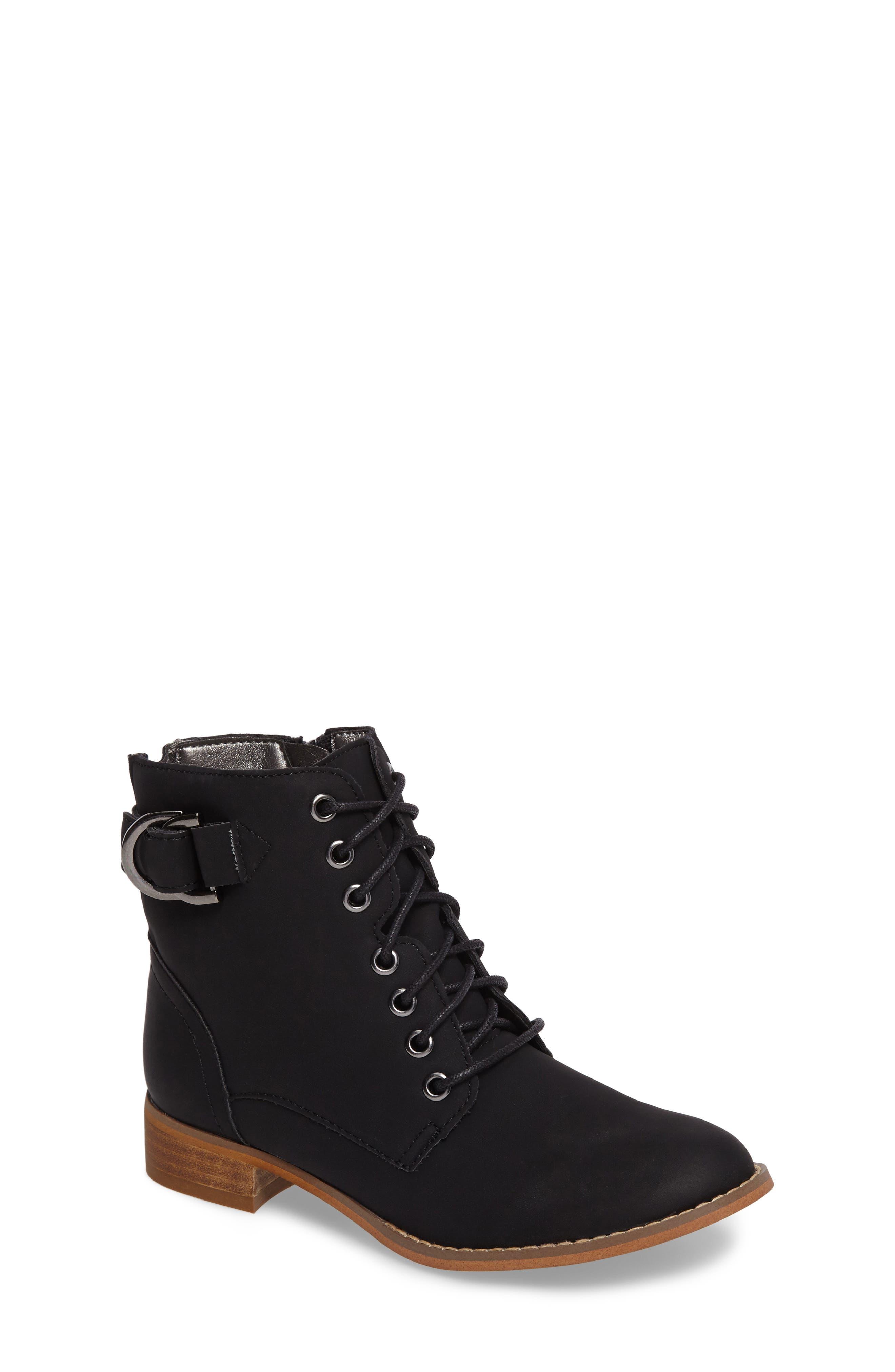 Drea Boot,                             Main thumbnail 1, color,                             Black Faux Leather