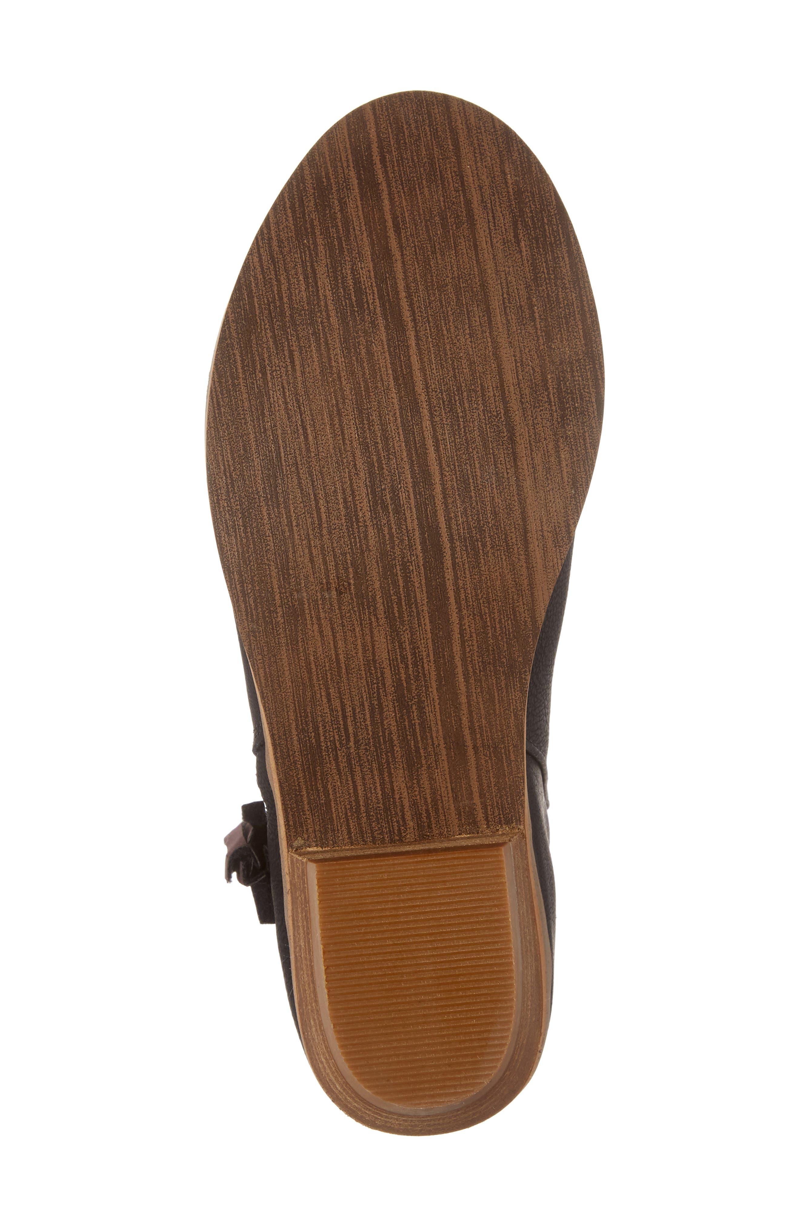 Harper Zip Bootie,                             Alternate thumbnail 6, color,                             Black Faux Leather