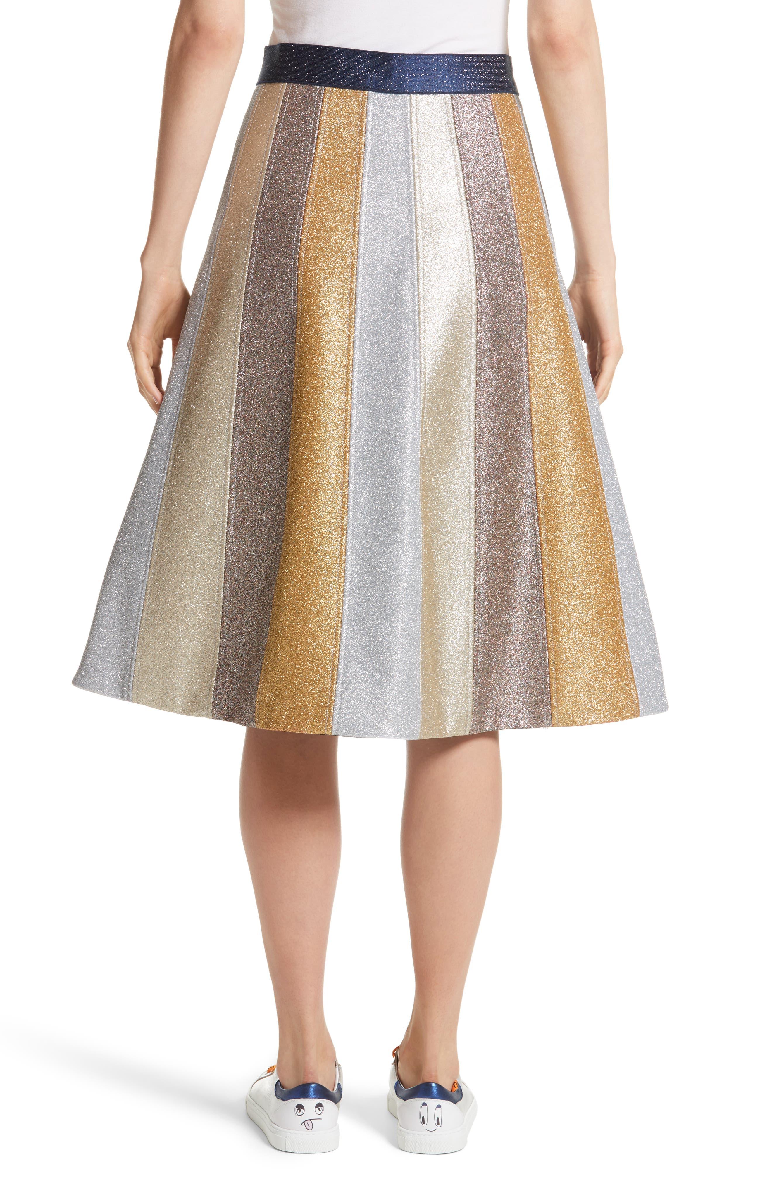 Glitter Panel A-Line Skirt,                             Alternate thumbnail 2, color,                             Multi