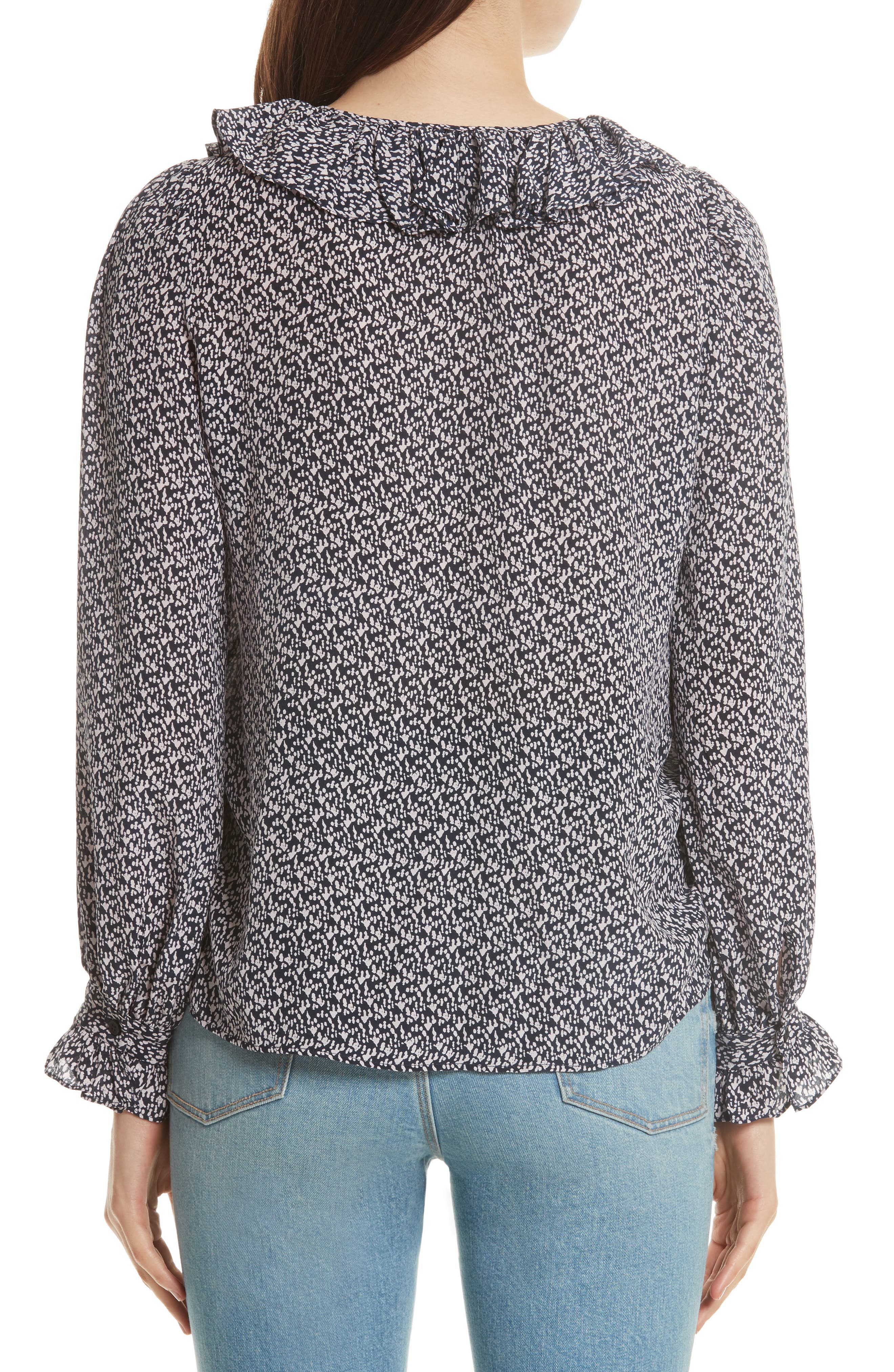 Alternate Image 2  - Rebecca Taylor Static Print Blouse