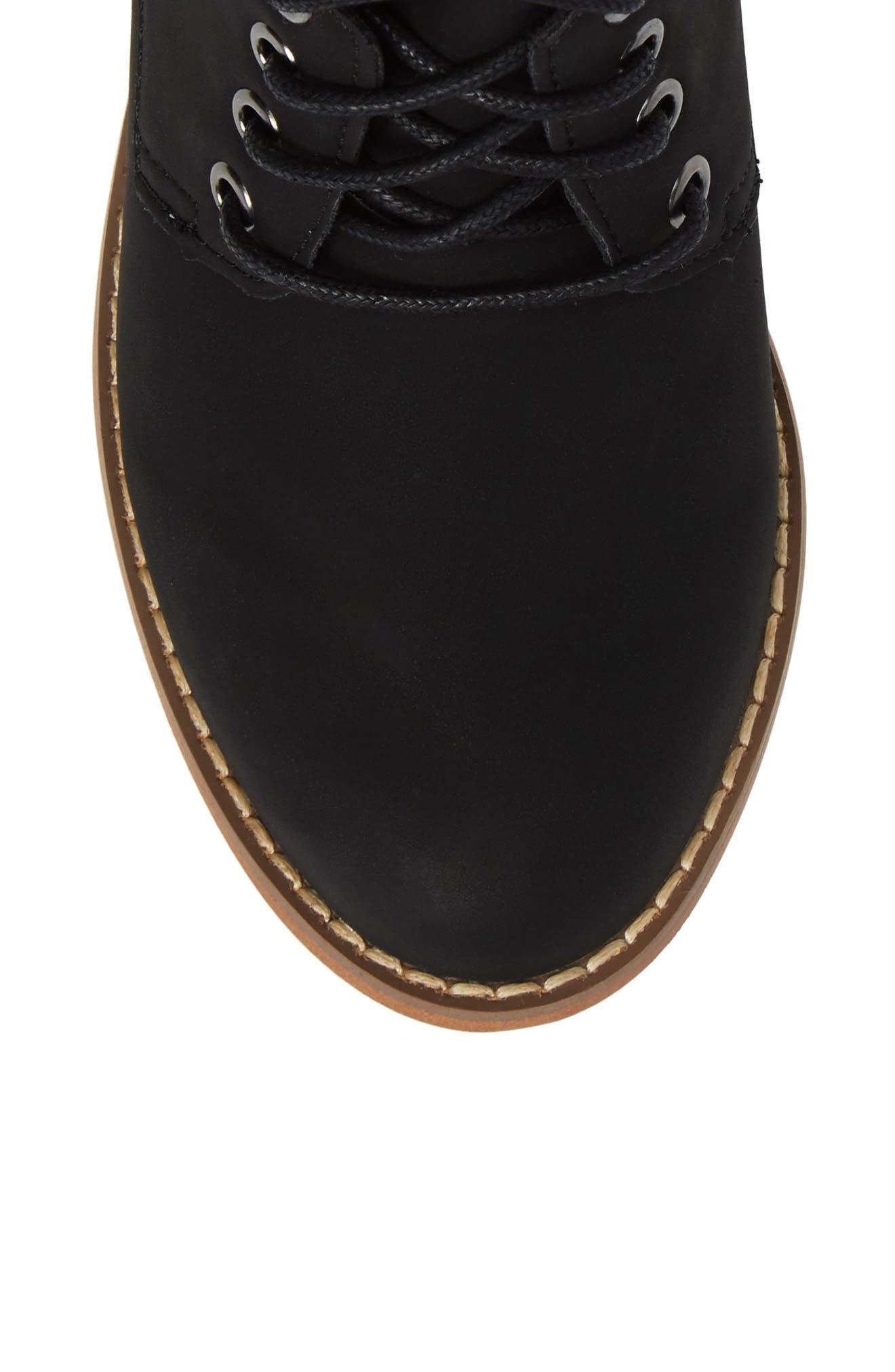 Drea Boot,                             Alternate thumbnail 5, color,                             Black Faux Leather