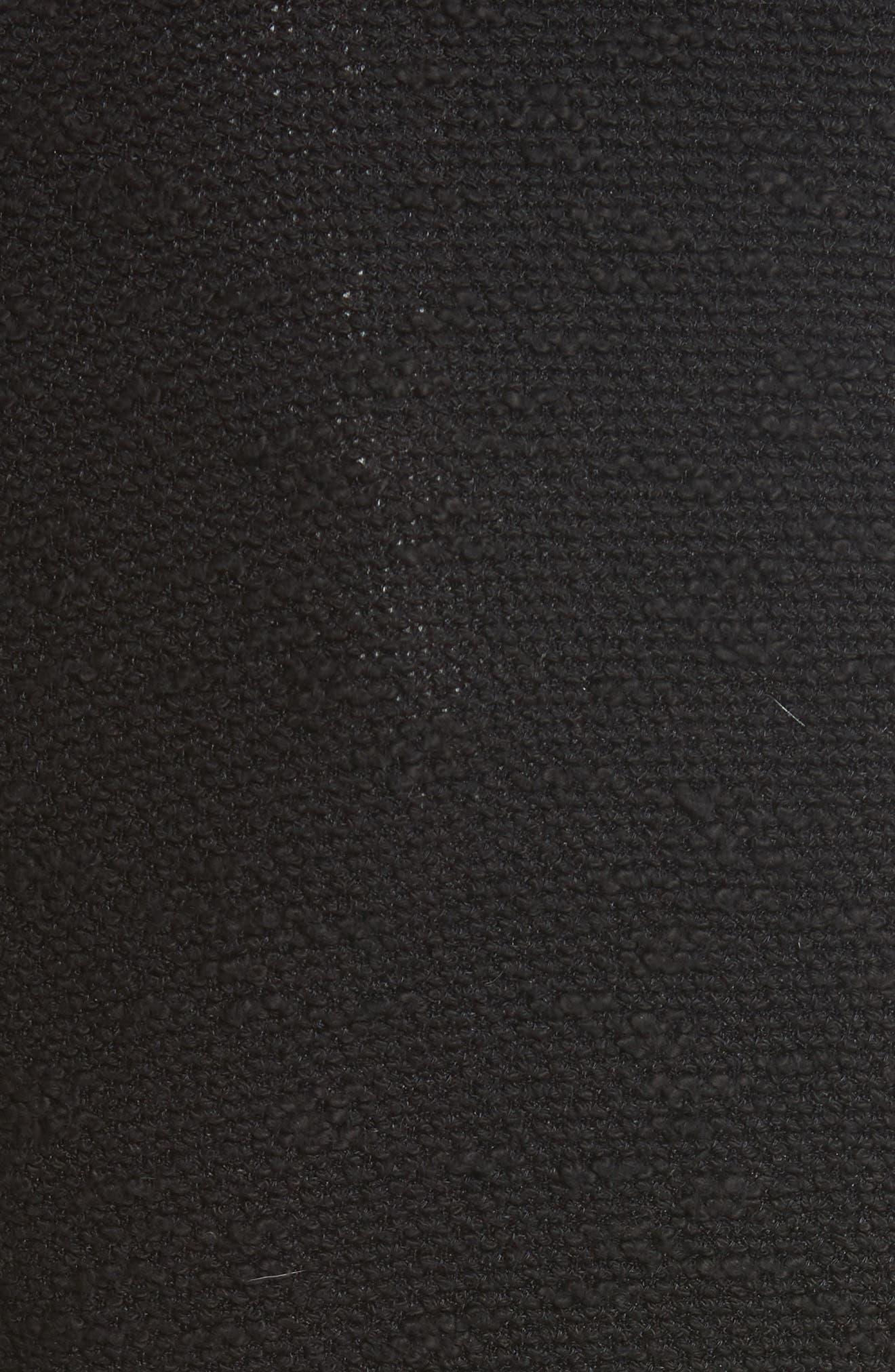 Knit & Lambskin Leather Jacket,                             Alternate thumbnail 5, color,                             Black