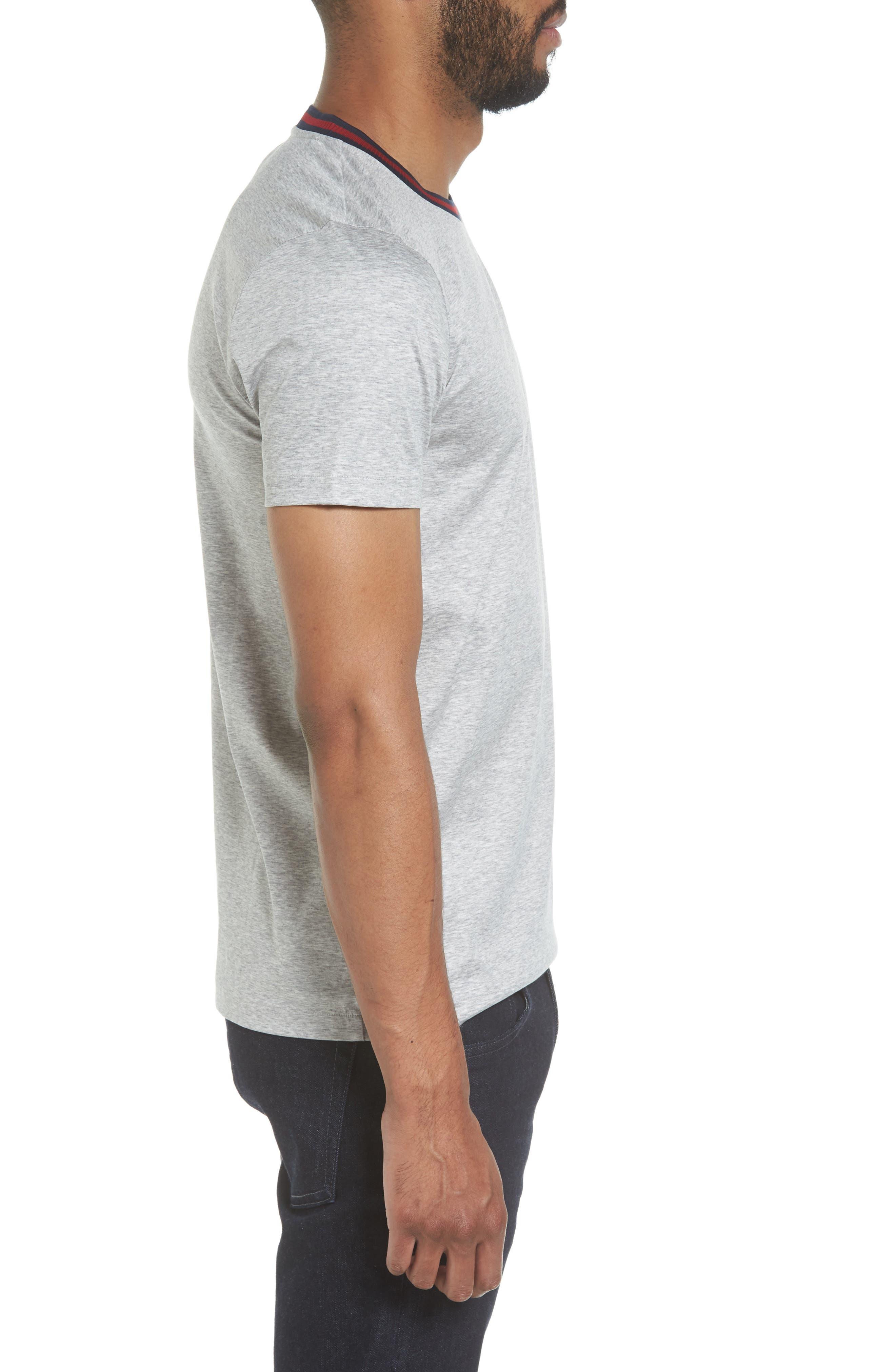 Alternate Image 3  - BOSS Tessler Slim Fit Ringer Neck T-Shirt