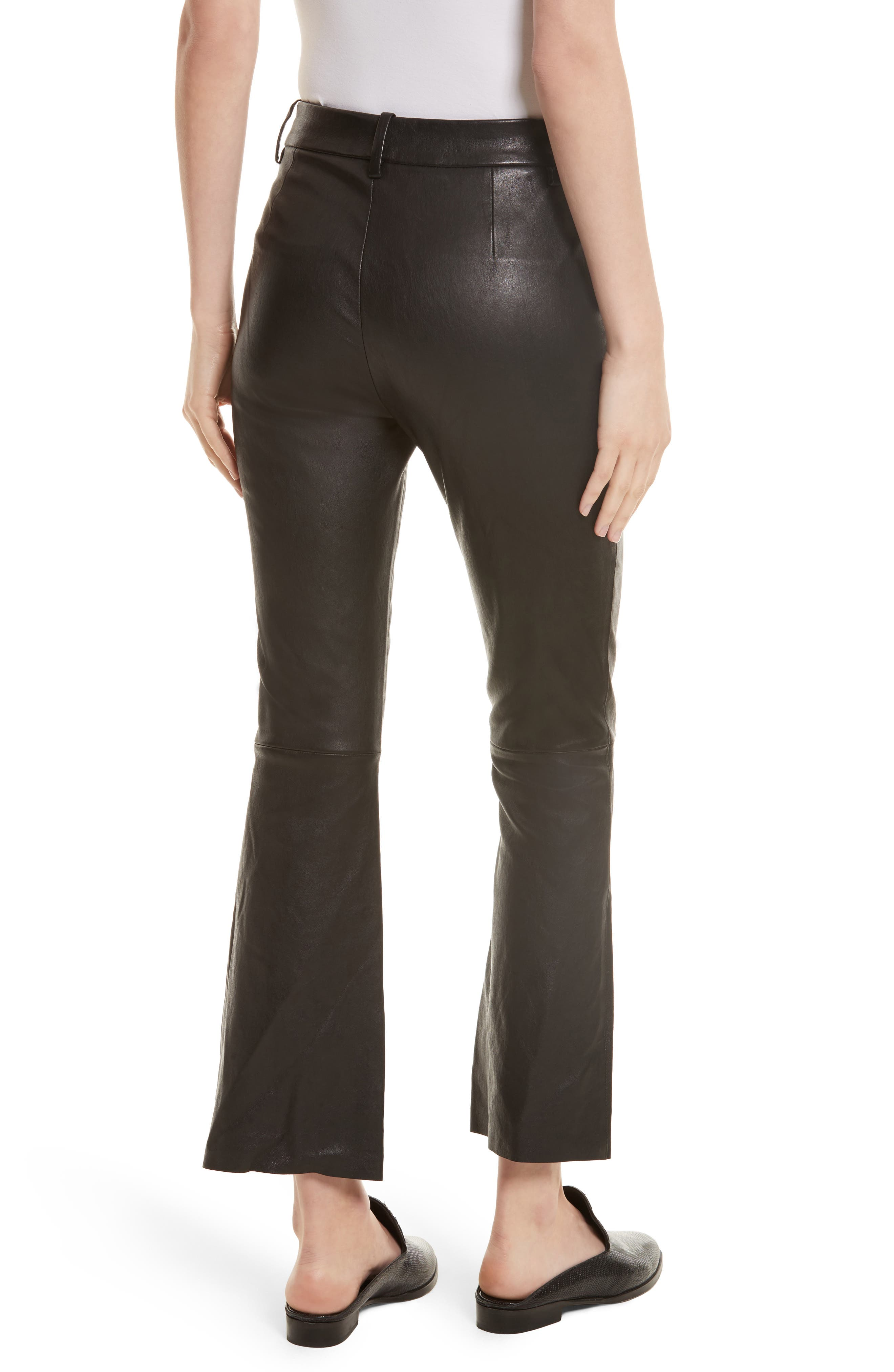 Alternate Image 3  - Helmut Lang Stretch Leather Flare Pants