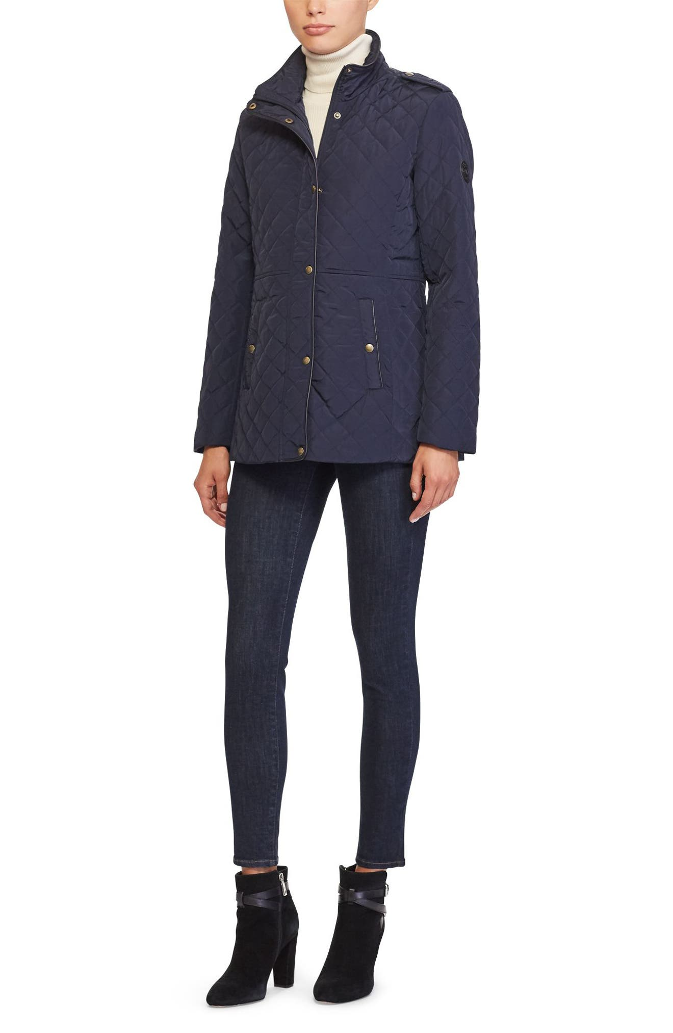 Quilted Field Jacket,                             Alternate thumbnail 2, color,                             Dark Navy