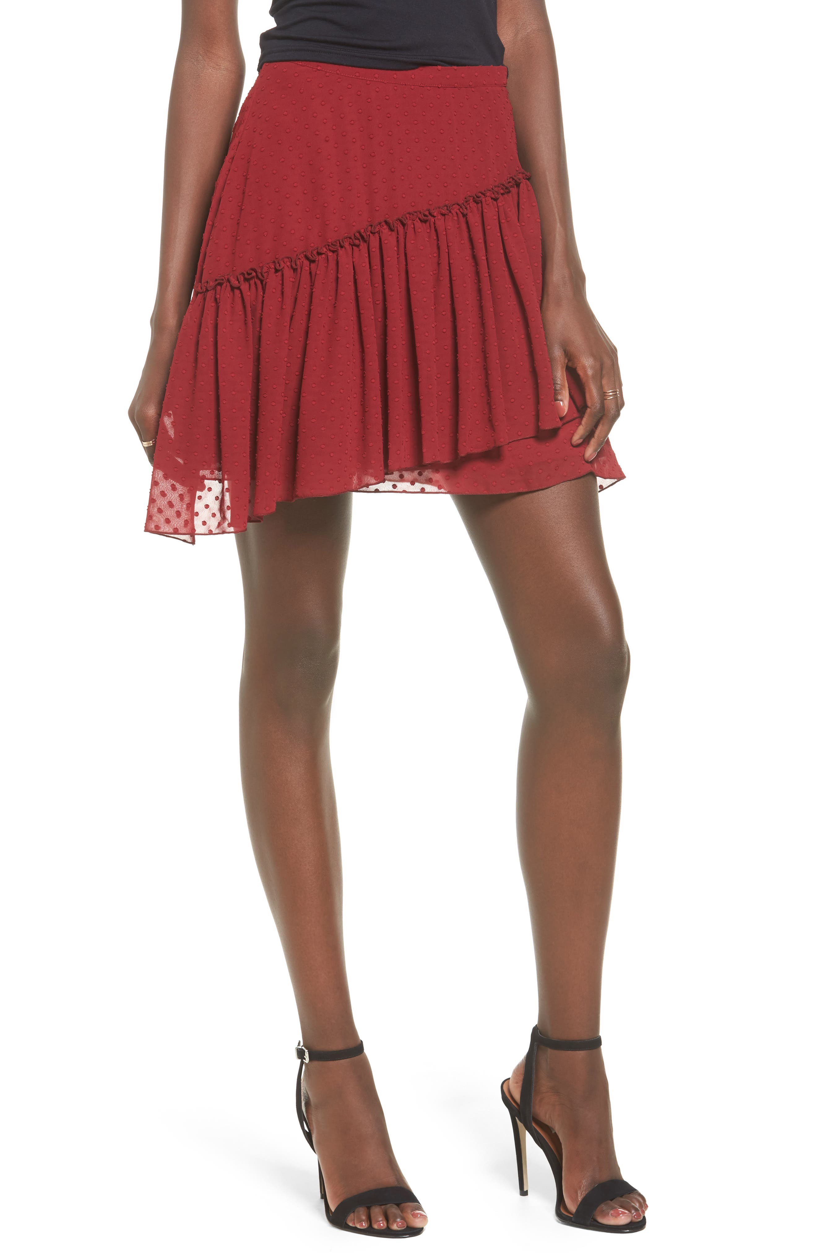 Main Image - The Fifth Label Swiss Dot Ruffle Skirt