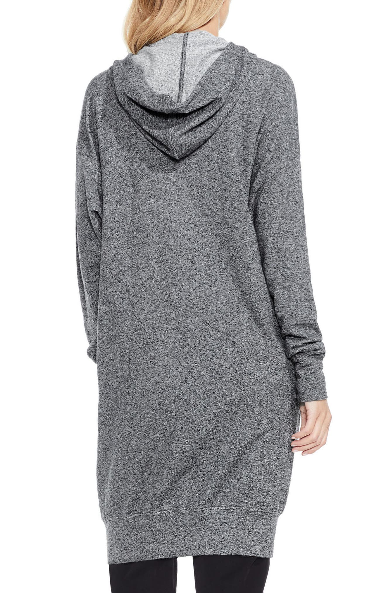 Alternate Image 2  - Two by Vince Camuto Long Hoodie