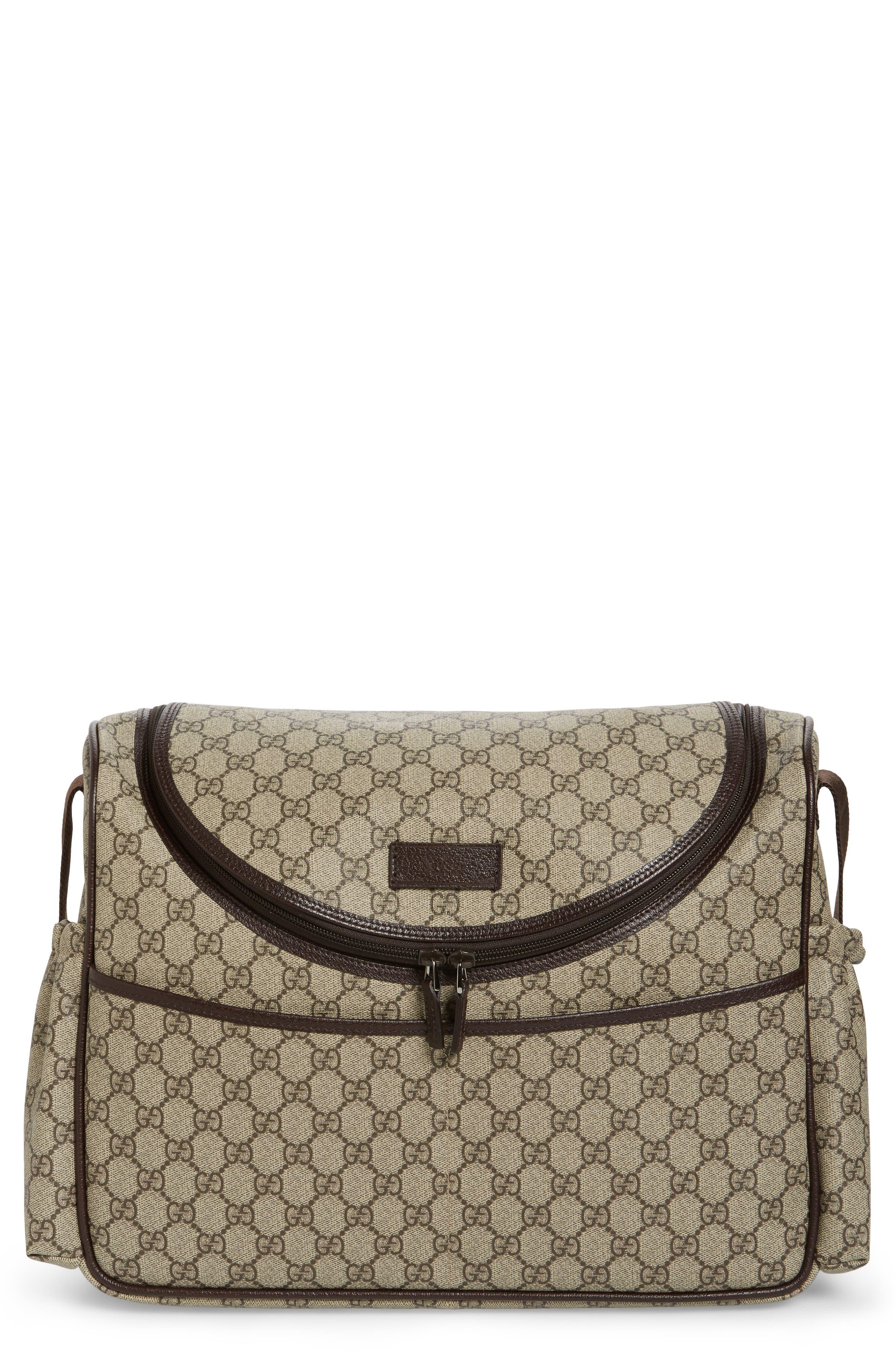 Gucci Double G Logo Diaper Bag