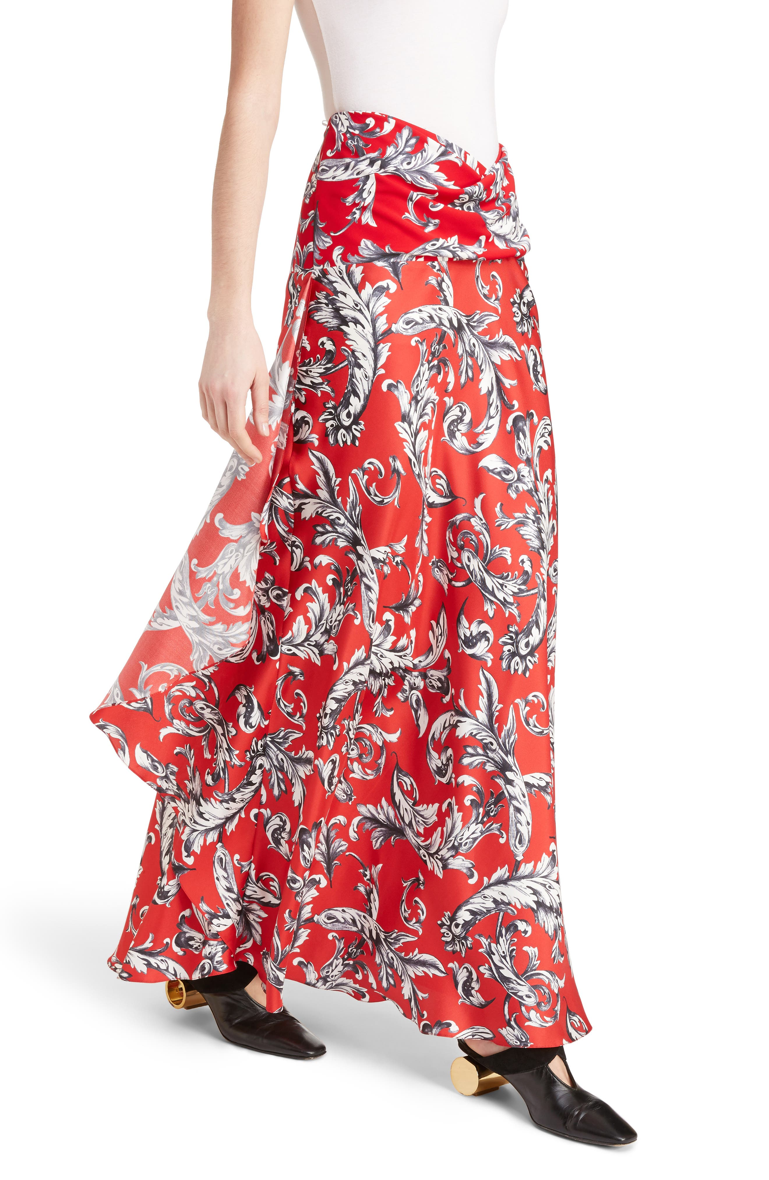 Alternate Image 4  - J.W.ANDERSON Filigree Print Asymmetrical Maxi Skirt