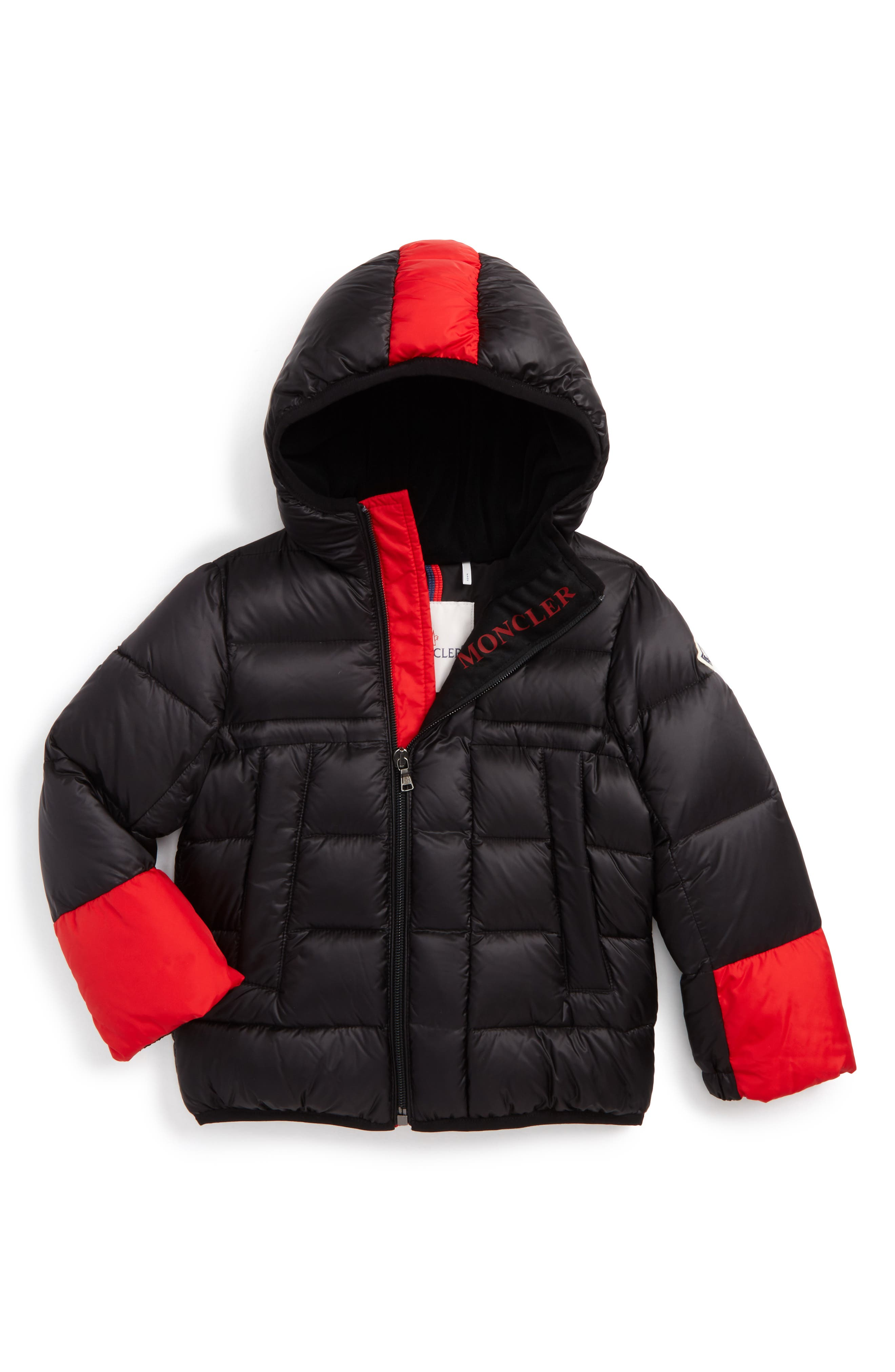 Alternate Image 1 Selected - Moncler Drake Hooded Down Coat (Baby Boys)