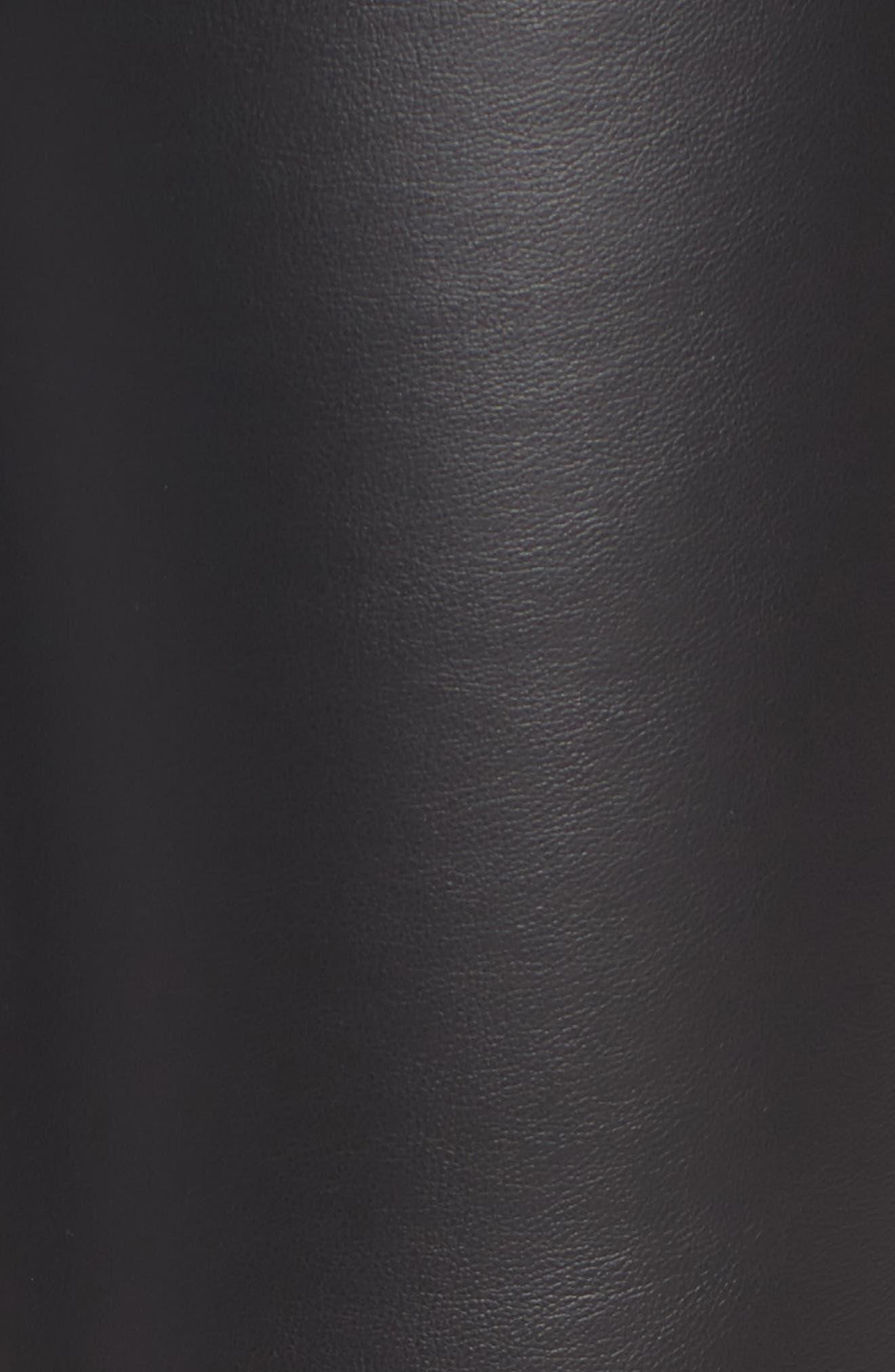 Bryce High Waist Faux Leather Leggings,                             Alternate thumbnail 6, color,                             Black