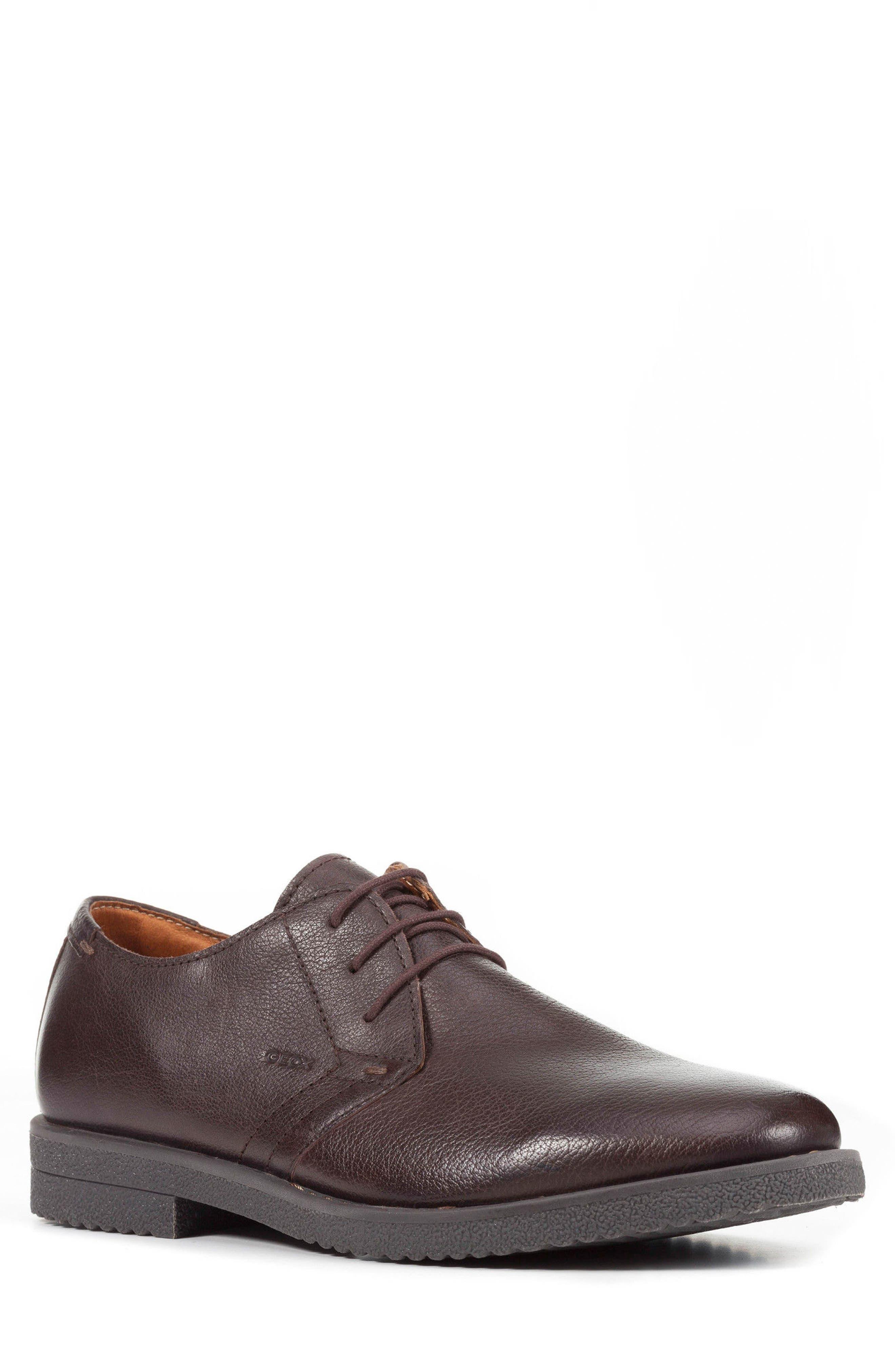 Geox Brandled Plain Toe Derby (Men)