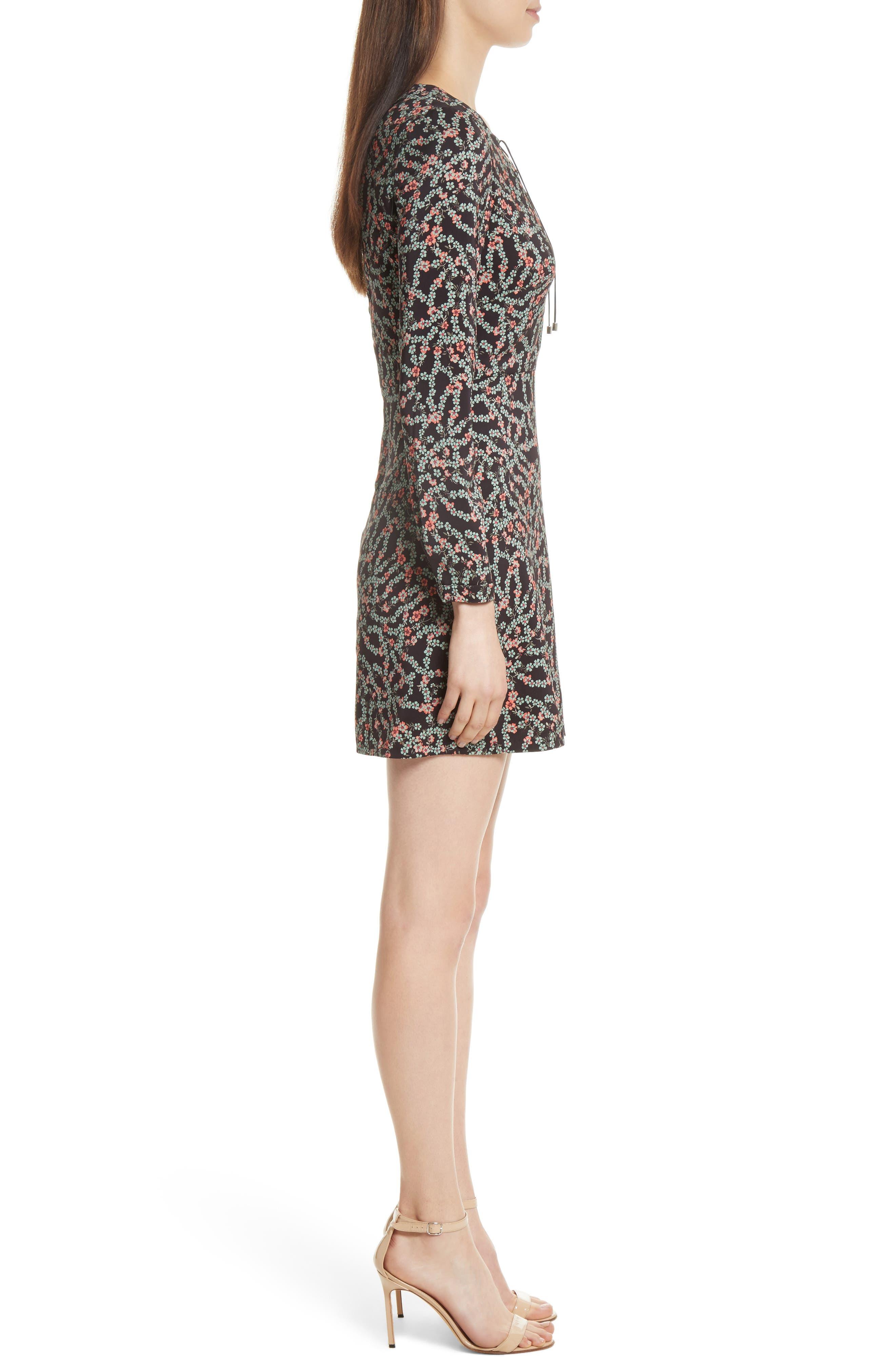 Alternate Image 3  - SALONI Nurul Floral Print Lace-Up Dress