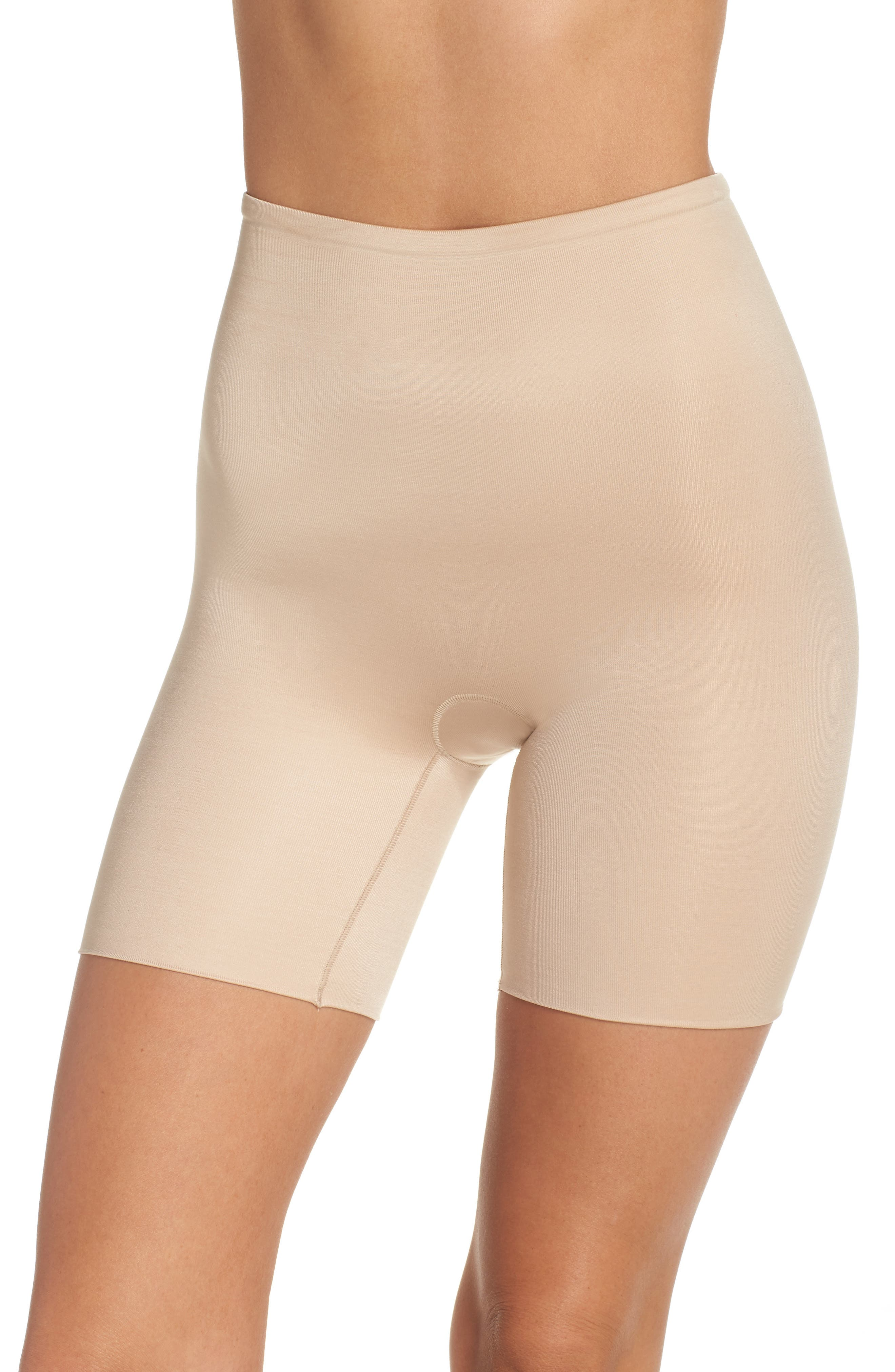 Power Conceal-Her Mid Thigh Shaping Shorts,                         Main,                         color, Natural Glam