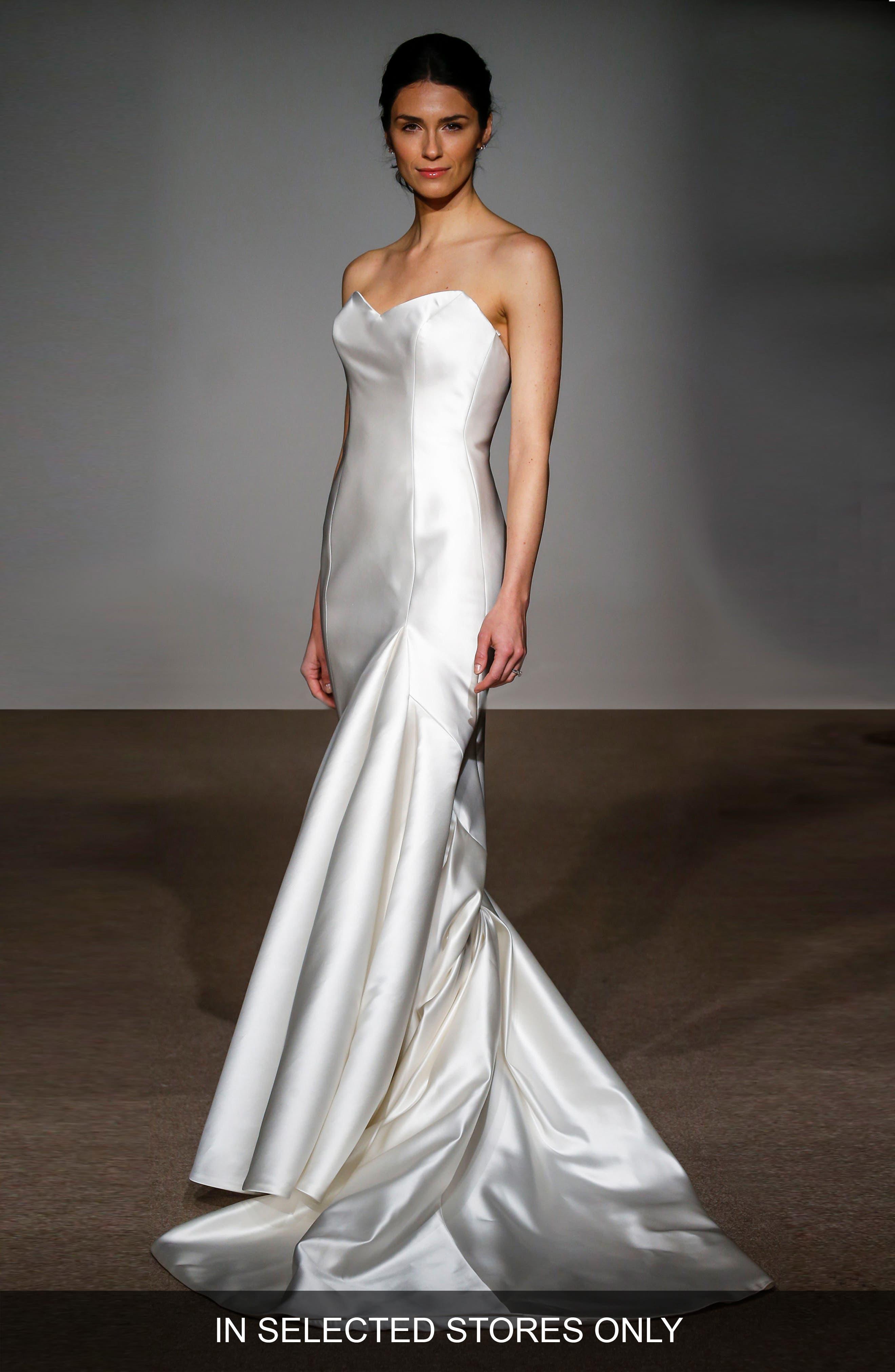 Main Image - Anna Maier Couture Stefanie Strapless Silk Duchess Satin Mermaid Gown