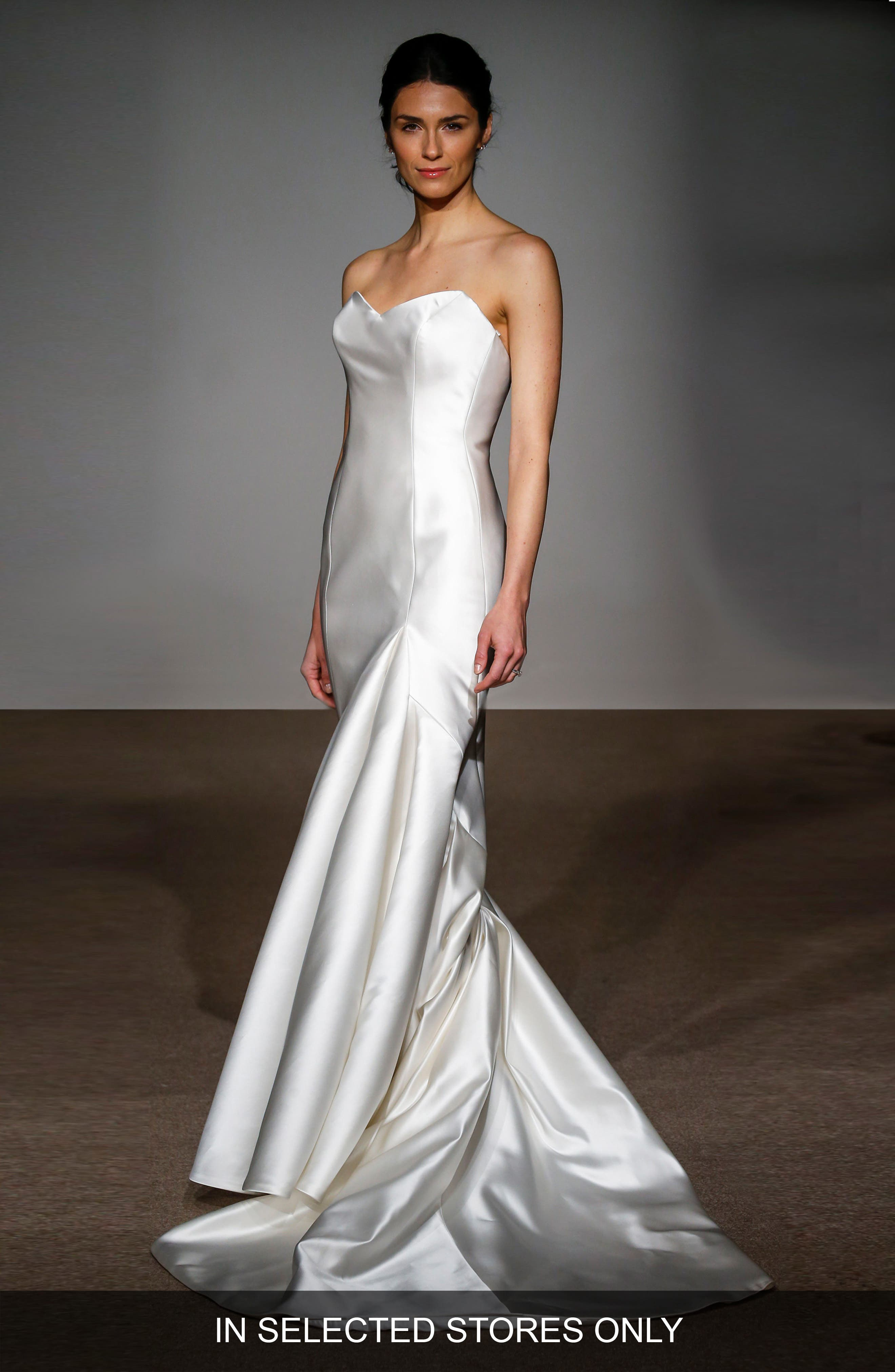 Anna Maier Couture Stefanie Strapless Silk Duchess Satin Mermaid Gown