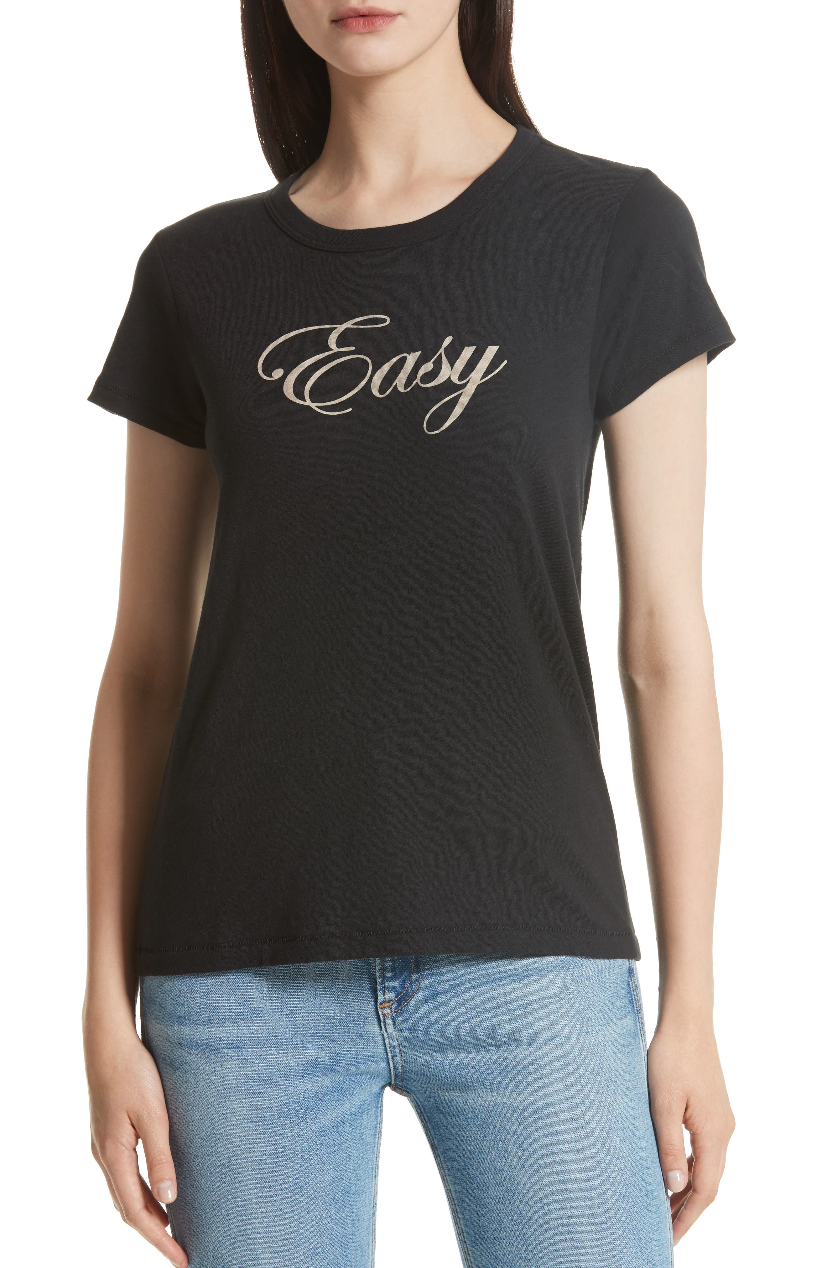 Easy Graphic Tee,                             Main thumbnail 1, color,                             Black