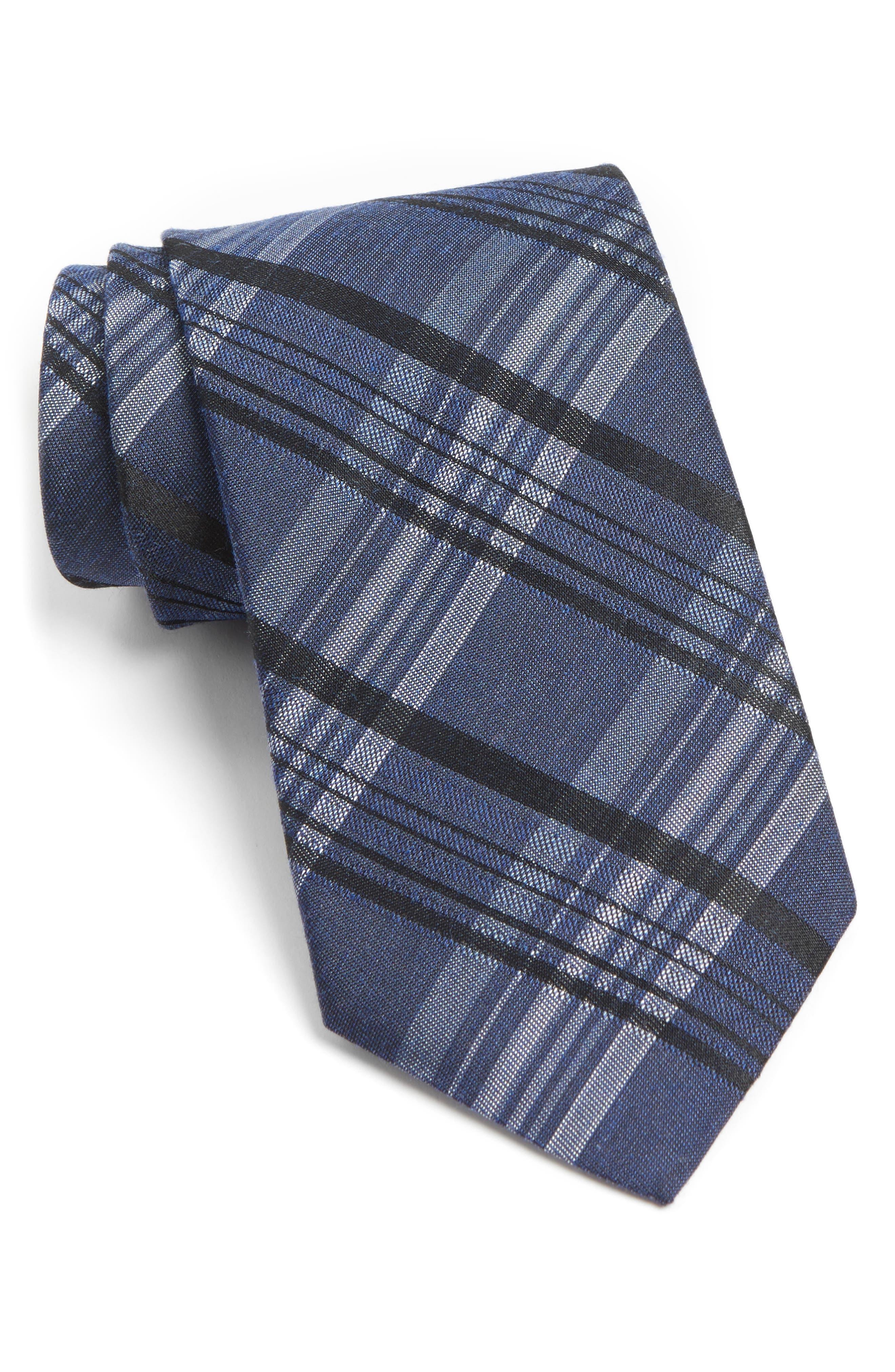 John Varvatos Star USA Plaid Silk Blend Tie