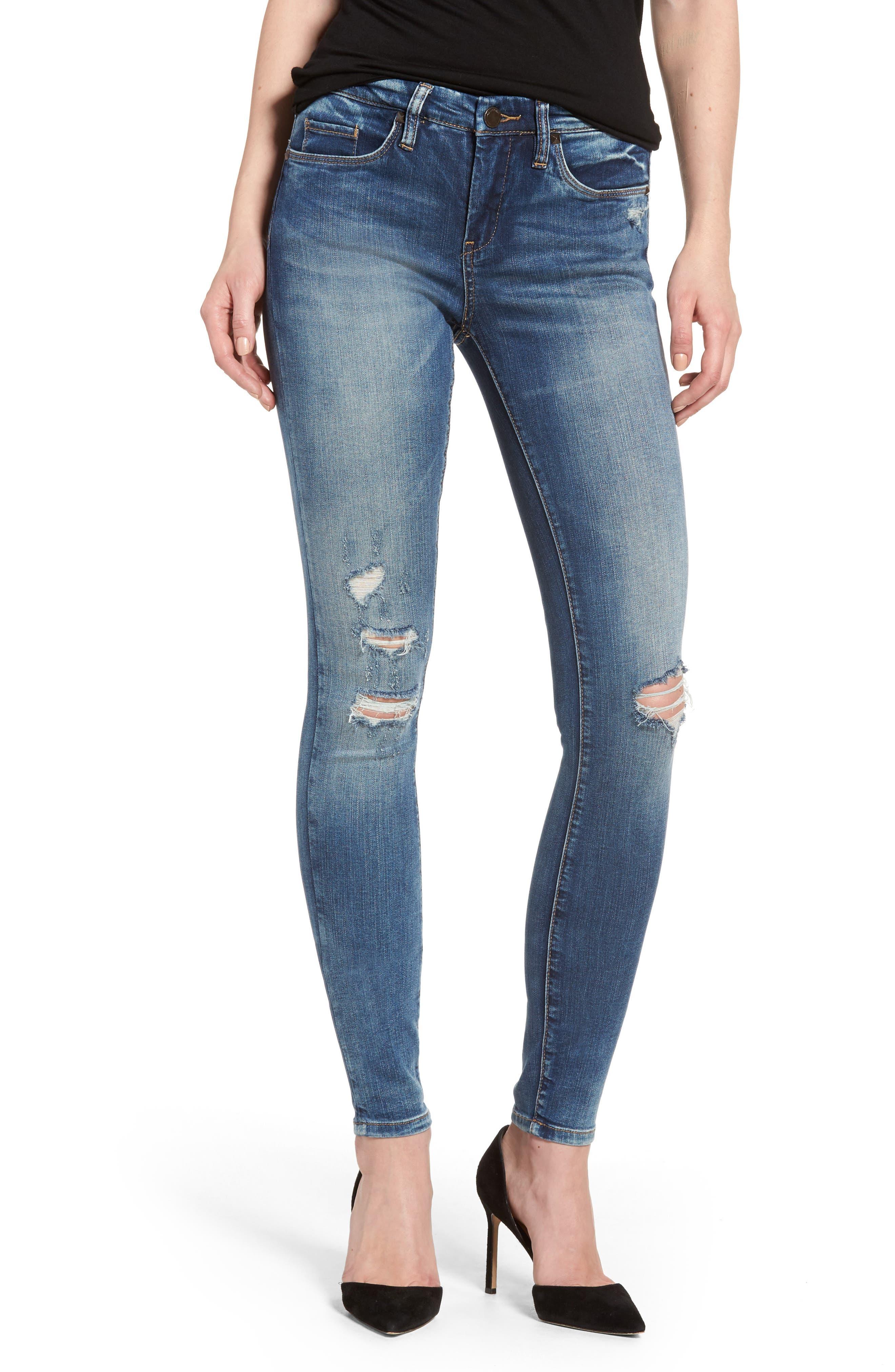 BLANKNYC Cofffee Nap Ripped Skinny Jeans