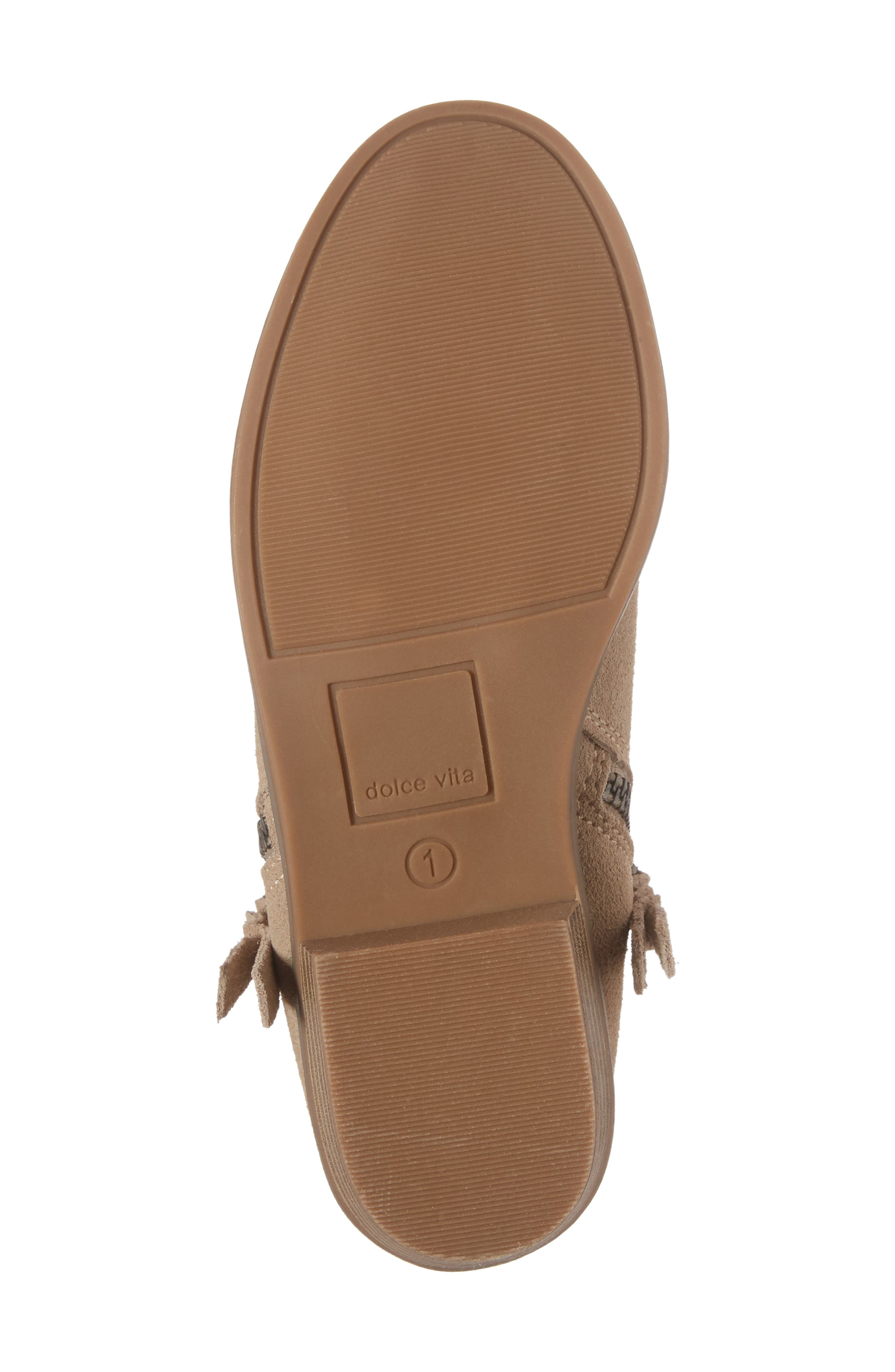 Sia Double-Zip Bootie,                             Alternate thumbnail 6, color,                             Sand Suede