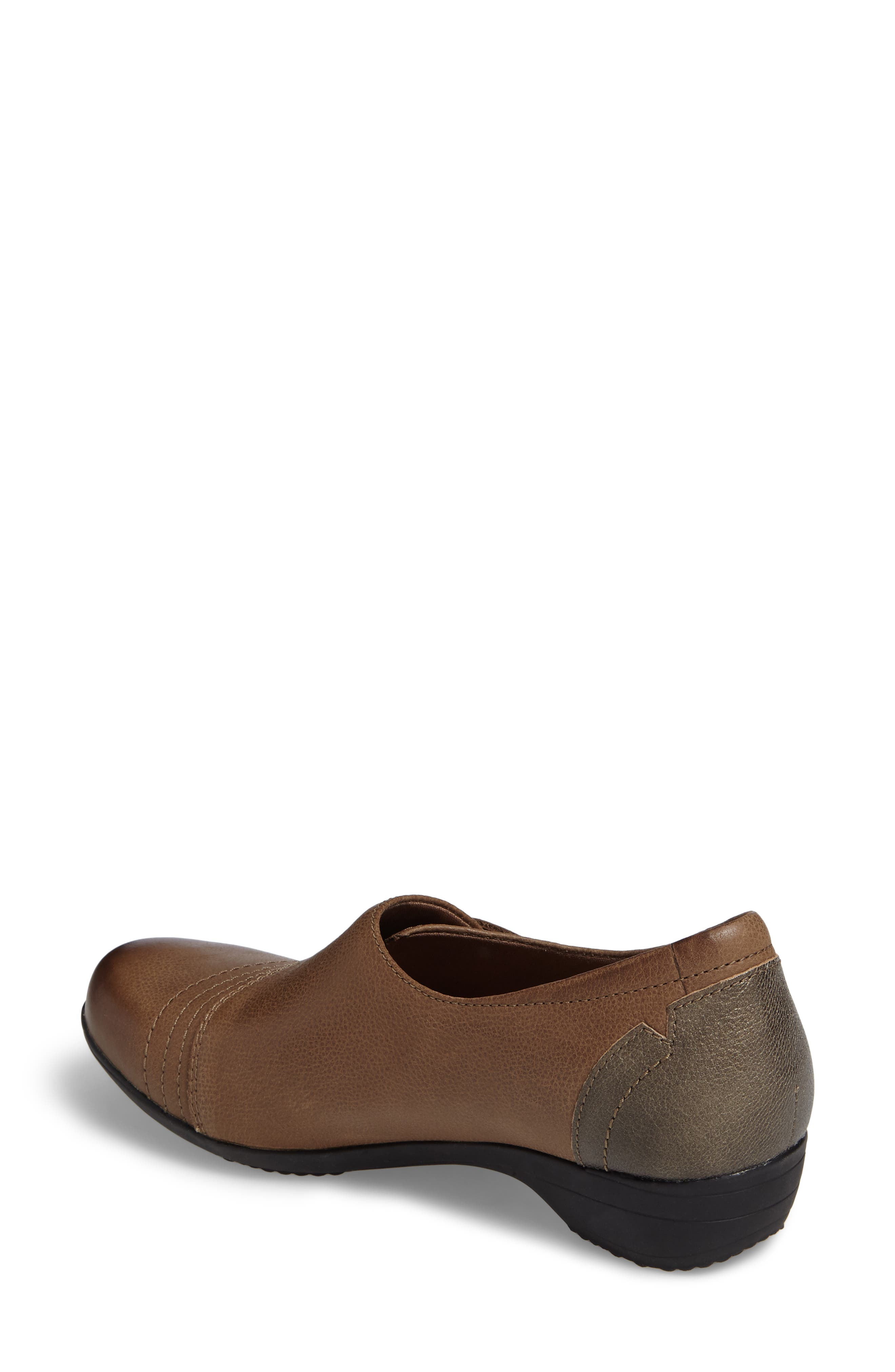 Franny Loafer,                             Alternate thumbnail 2, color,                             Taupe Burnished Nappa Leather
