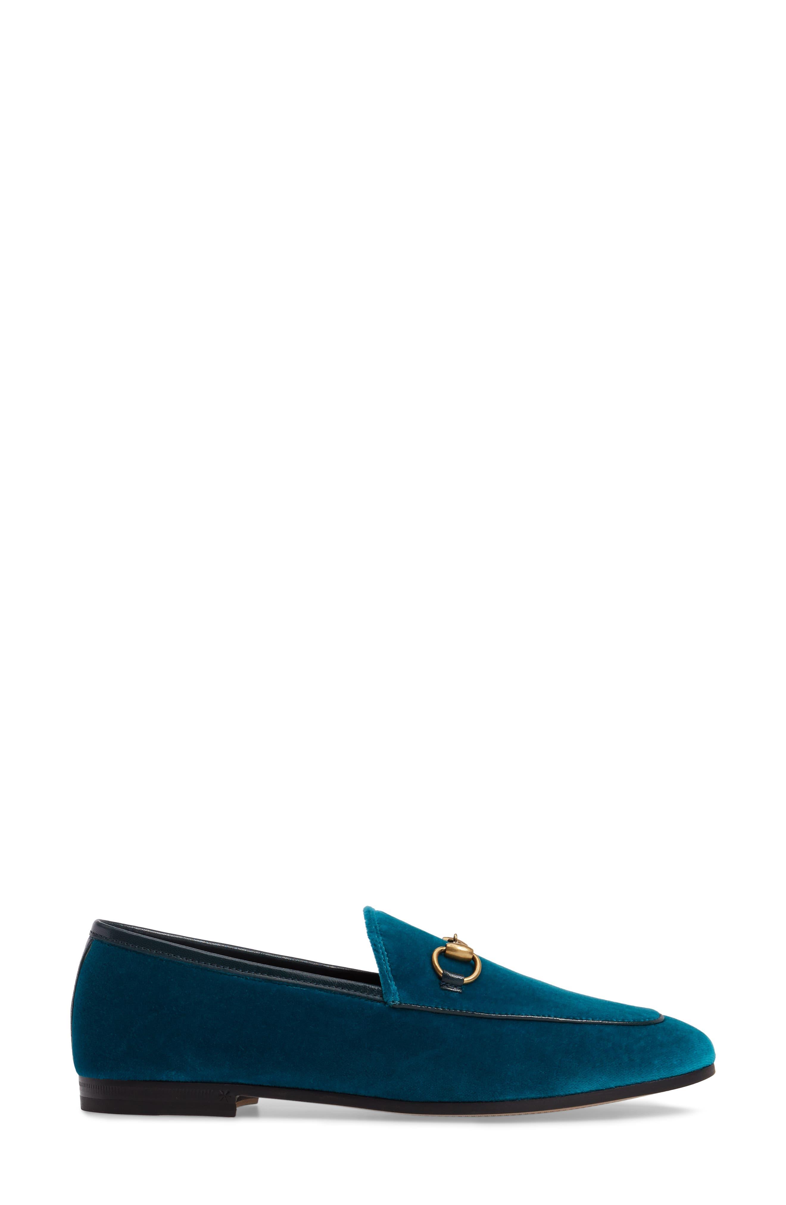 Brixton Velvet Loafer,                             Alternate thumbnail 3, color,                             Blue Velvet