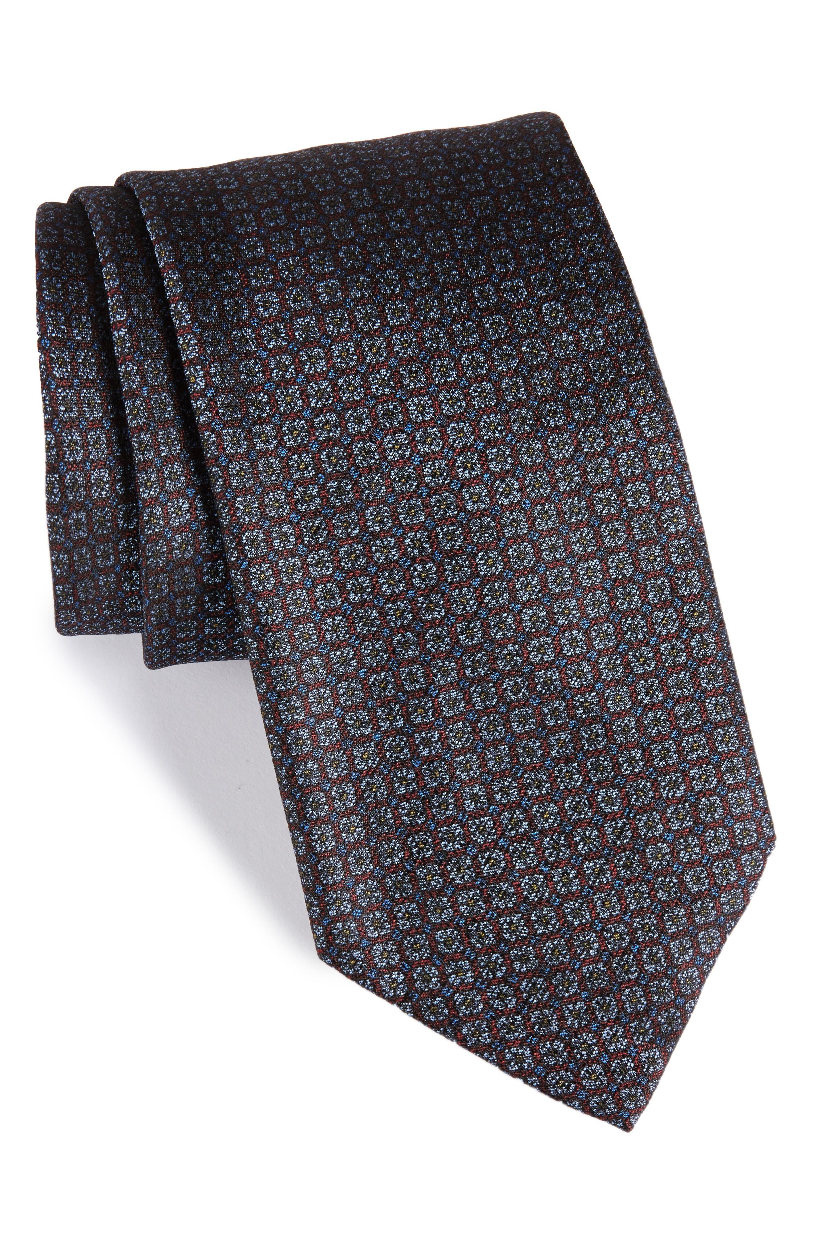 Main Image - Brioni Geometric Silk Tie