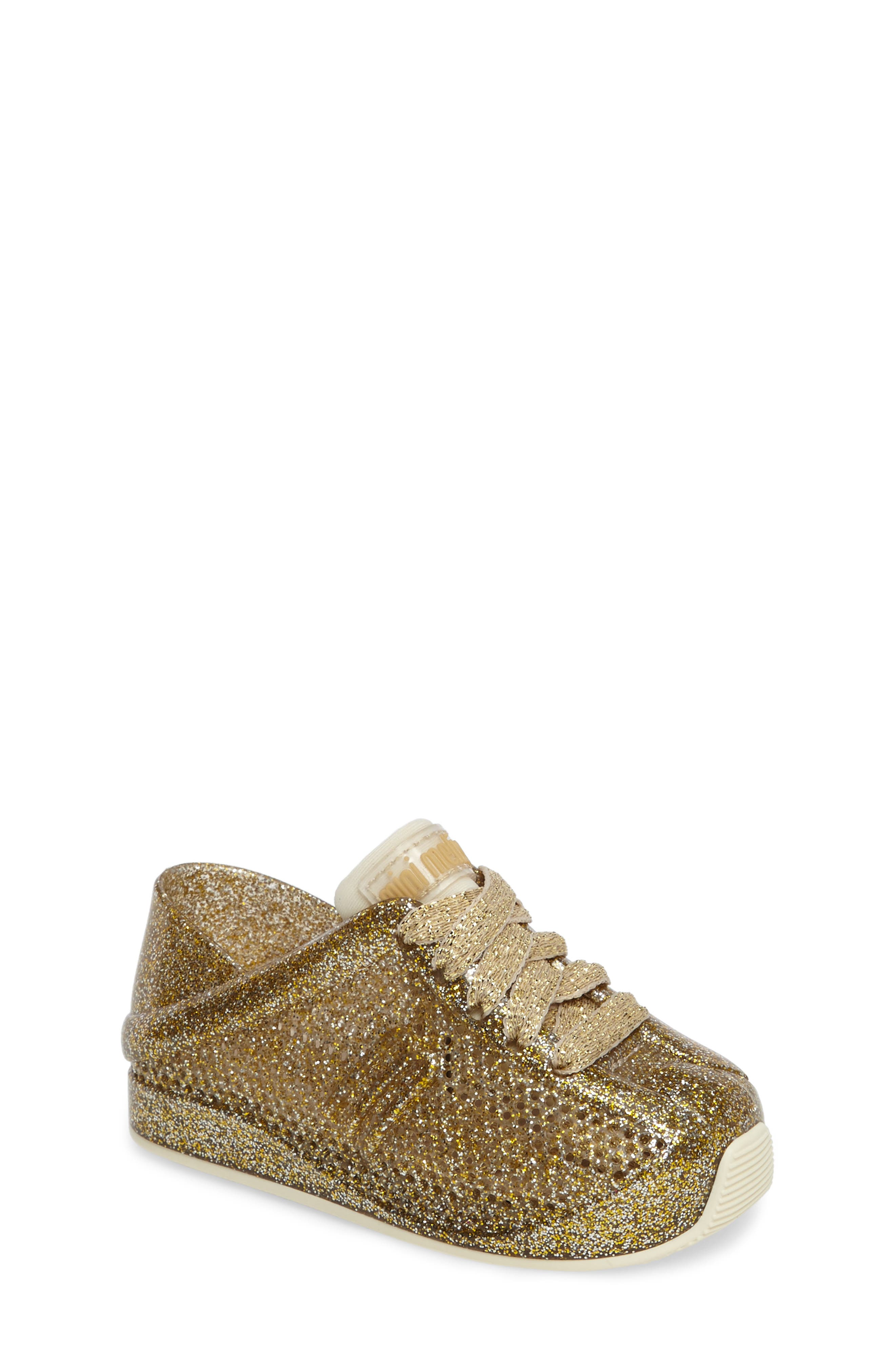 'Love System' Sneaker,                         Main,                         color, Gold Glitter