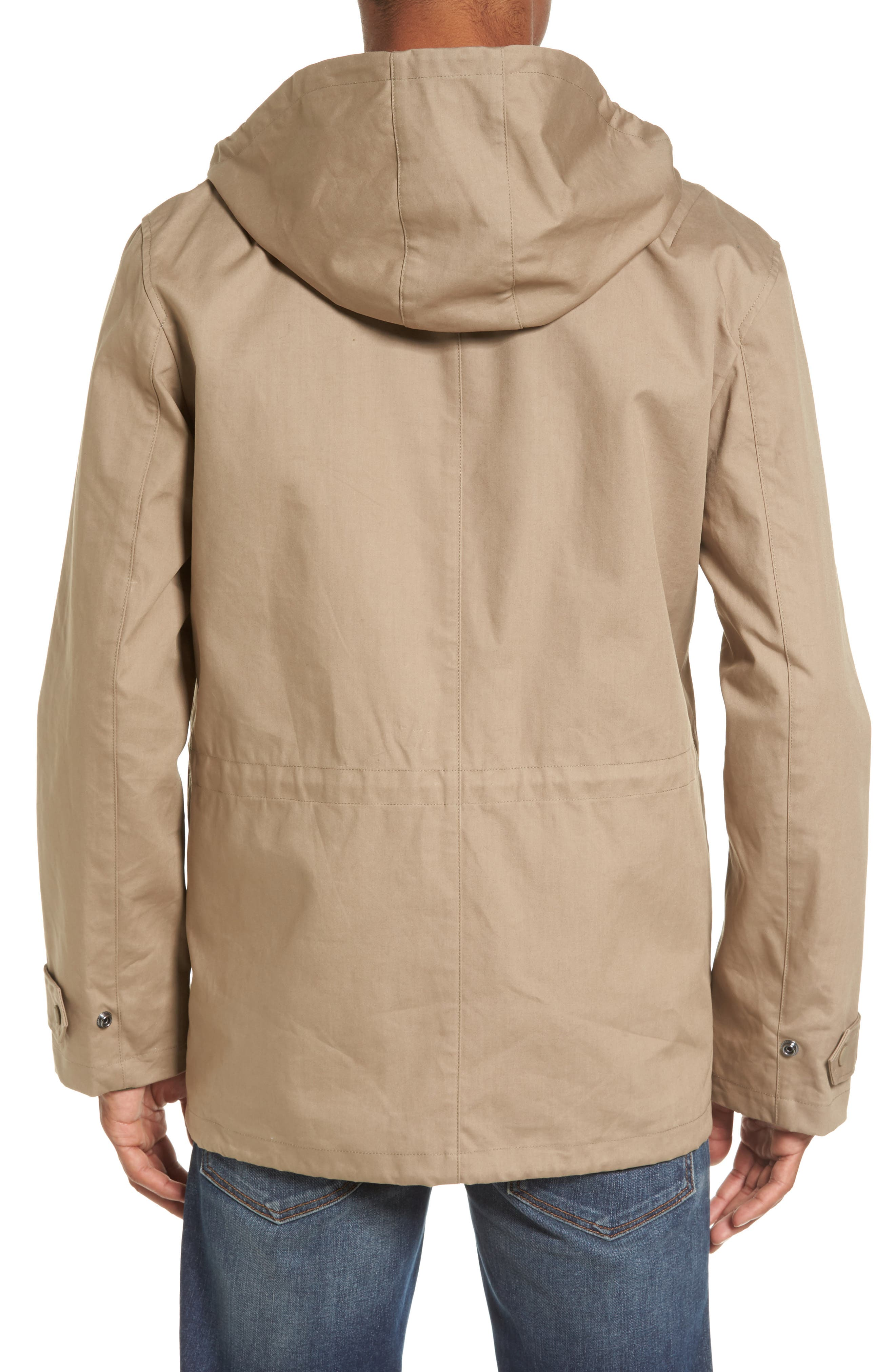 Alternate Image 2  - French Connection Regular Fit Hooded Rain Jacket