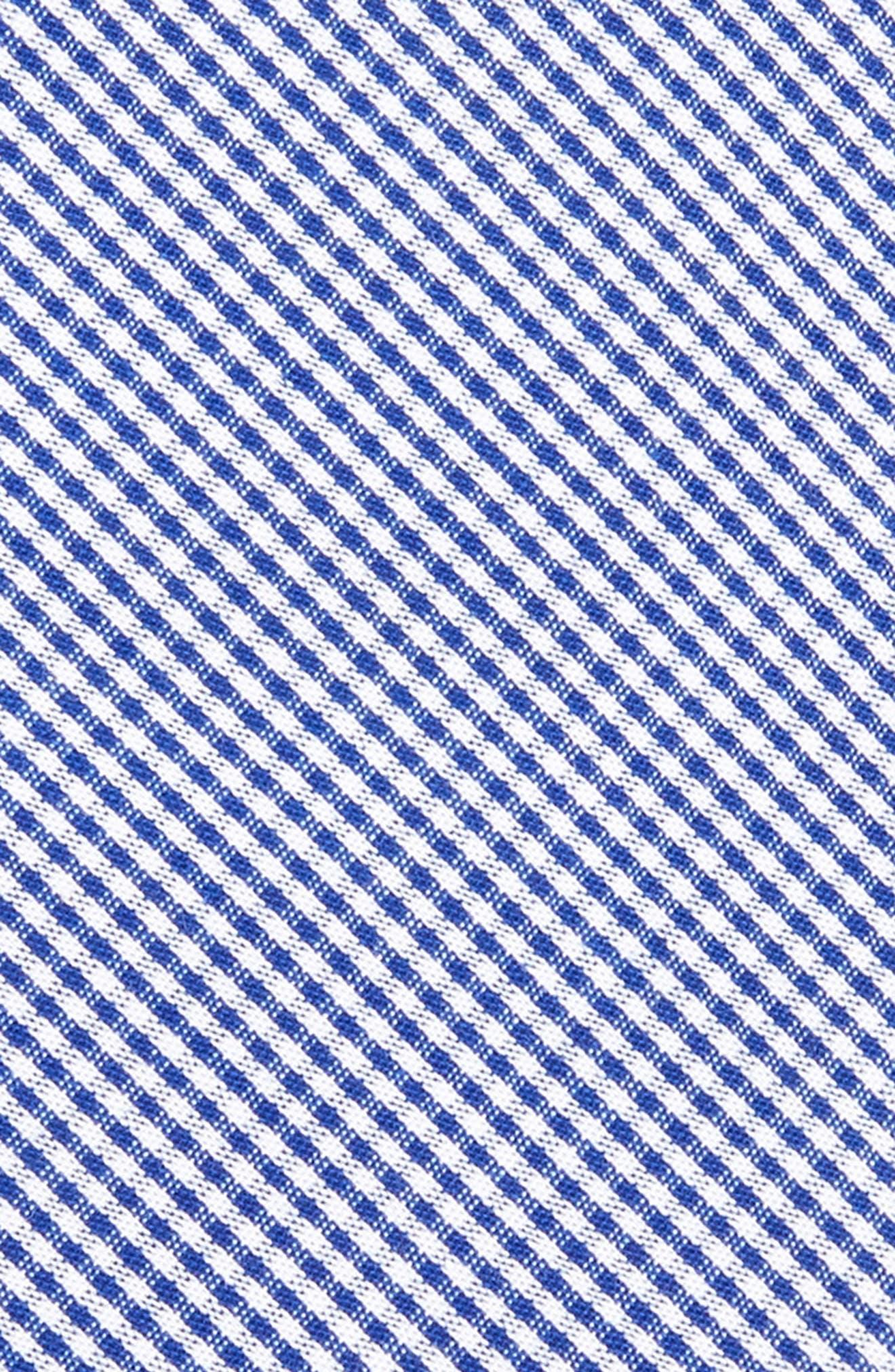 Check Cotton Tie,                             Alternate thumbnail 2, color,                             Navy
